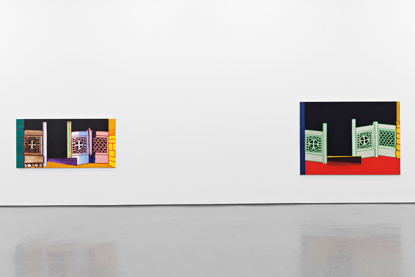 Installation view, Paul Osipow, New Paintings, Galleri Riis, Oslo, 2013