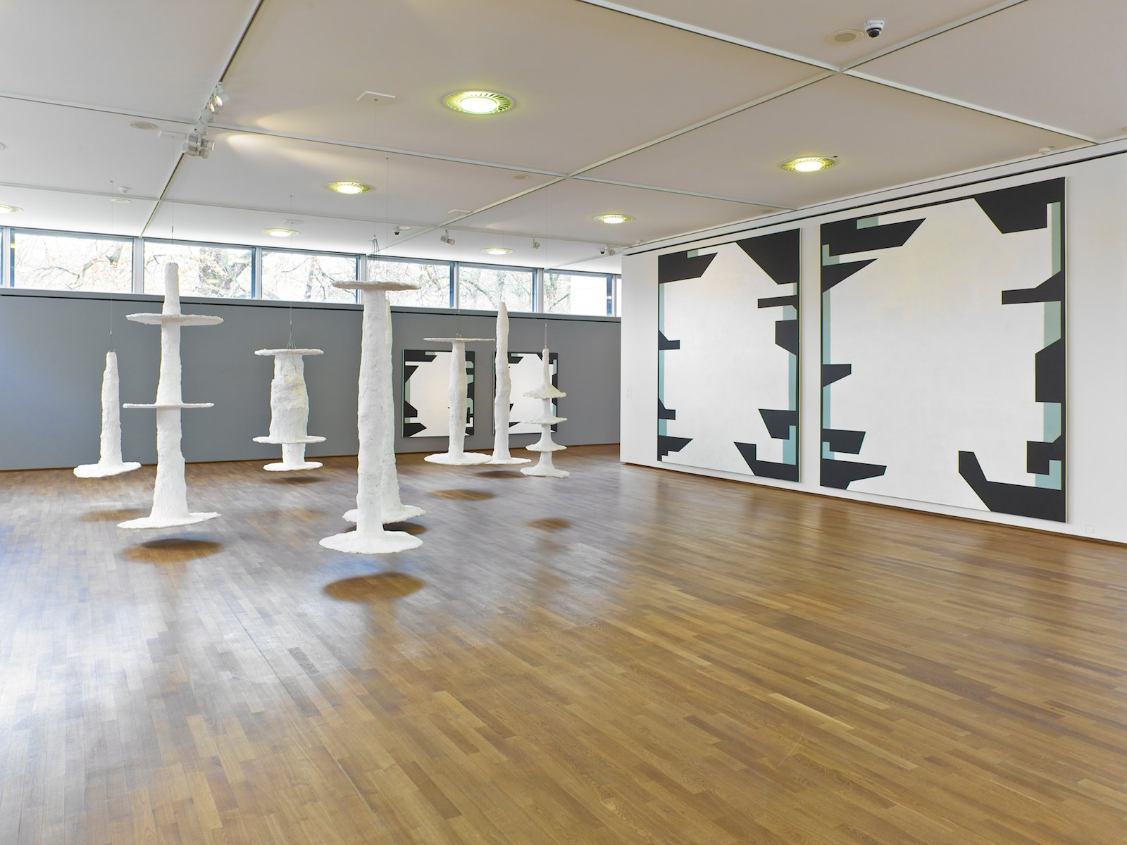Installation view Olav Christopher Jenssen, Saarlandmuseum, Moderne Galerie, Saarbrücken, Germany, 2014. Photo: Saarlandmuseum