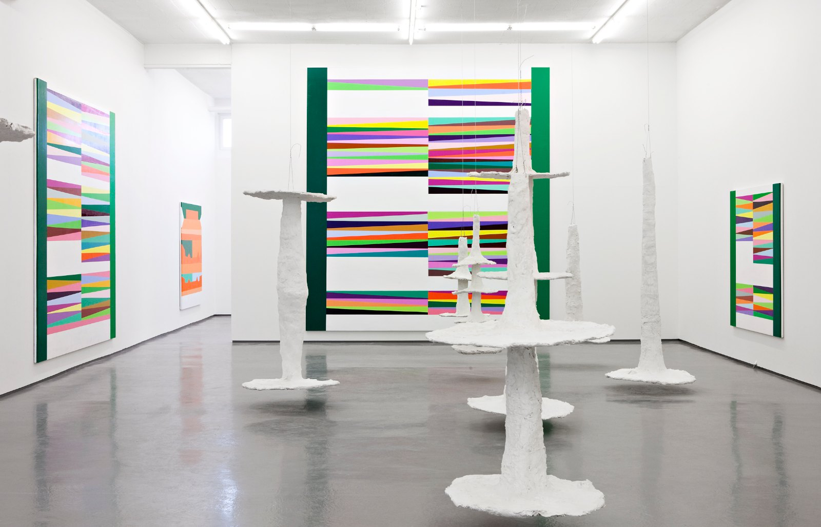 Installation view, Galleri Riis, Oslo, 2010. The Limboes, 2007-08, plaster, metal, different sizes up to 300 cm