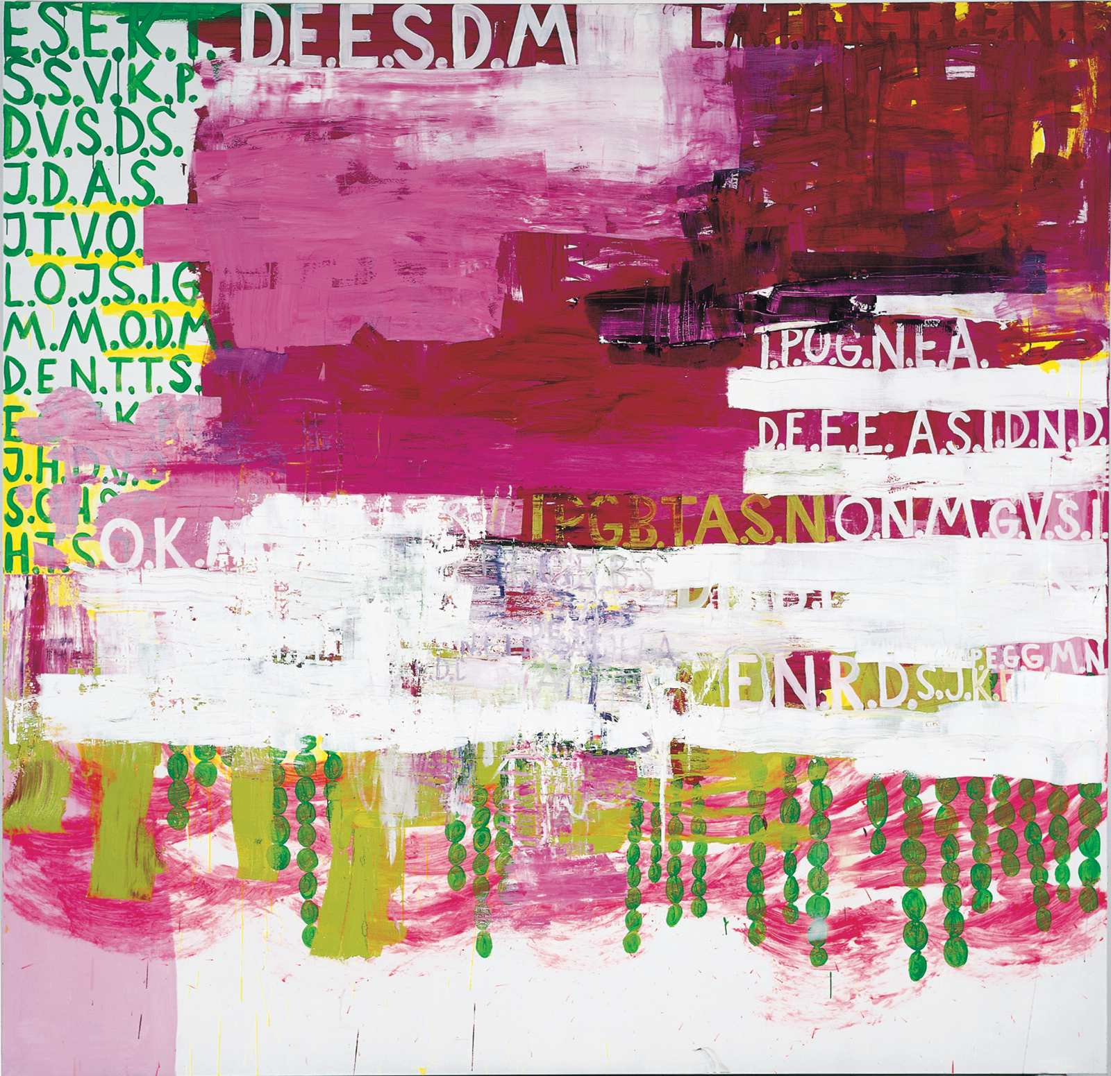 Palindrome No. 06, 2000, oil on canvas, 312 x 302 cm