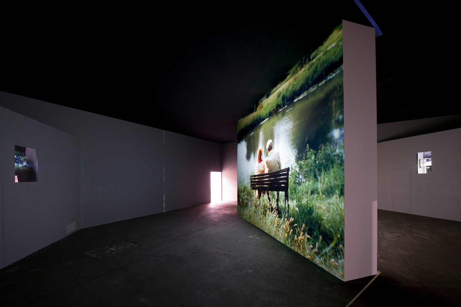 Still from Couple in the distance, 2010. Installation view Art Unlimited, Art Basel, 2010. Photo: Peter Hauck