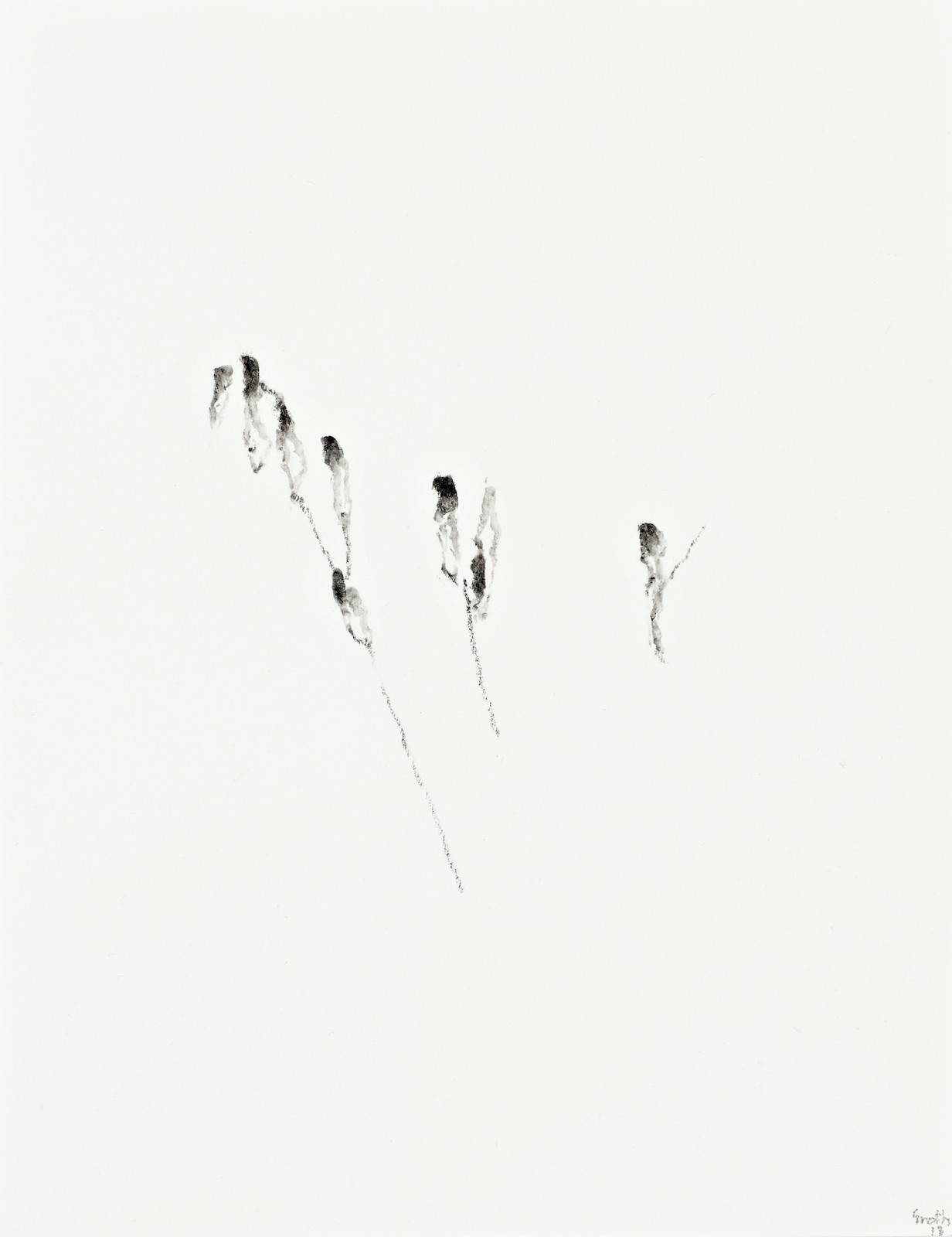 Untitled, 2013, crayon on paper, 27,7 x 21,5 cm