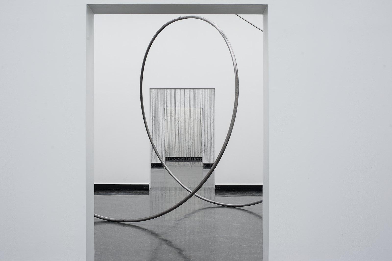 Muster II, 2014, steel, 783 x 945 x 490 cm, detail. Installation view, Tone Vigeland, Muster, Bergen Kunsthall, 2014. Photo: © Bergen Kunsthall