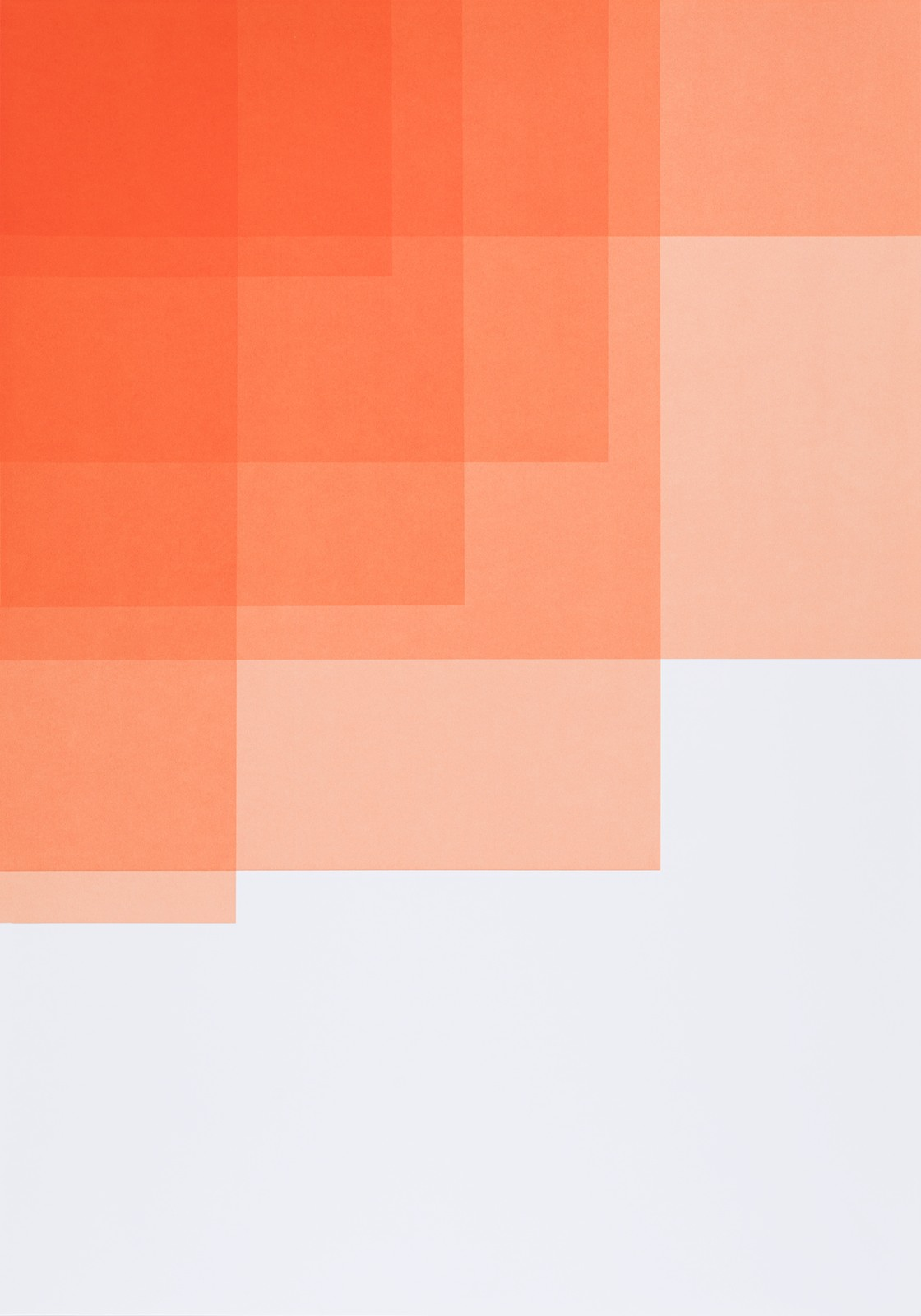 Collecting Colors (Orange I), 2016, silkscreen print, 100 x 70 cm, Ed. 4