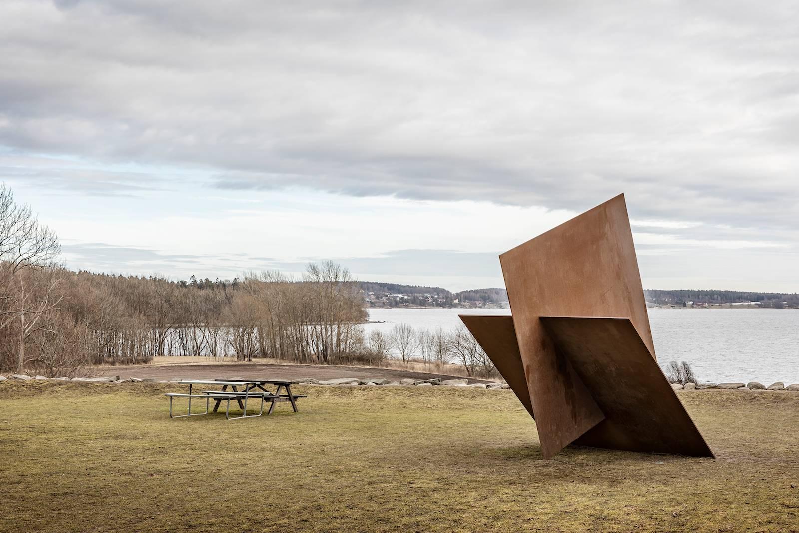 Muster IV-2, 2016, 20mm steel, approx 390 x 300 x 400 cm, unique. Photo: Vegard Kleven © Punkt Ø