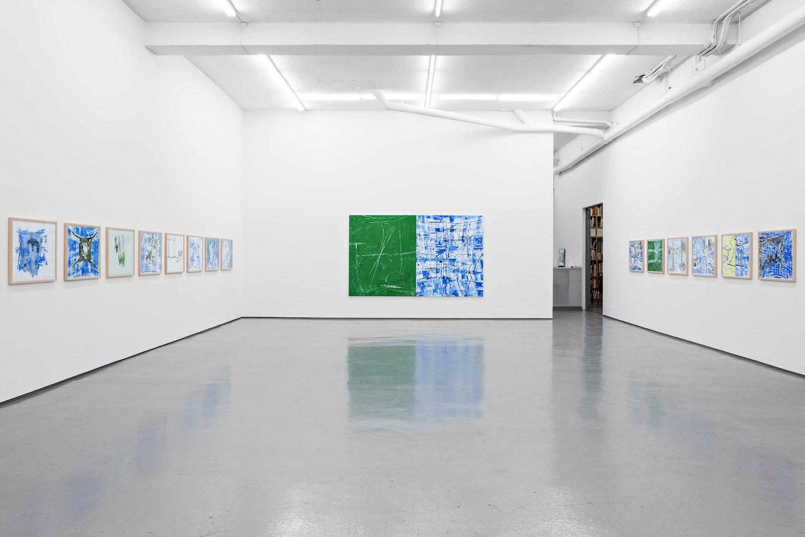 Installation view, Troels Wörsel, Makulatur, Galleri Riis, Oslo, 2013