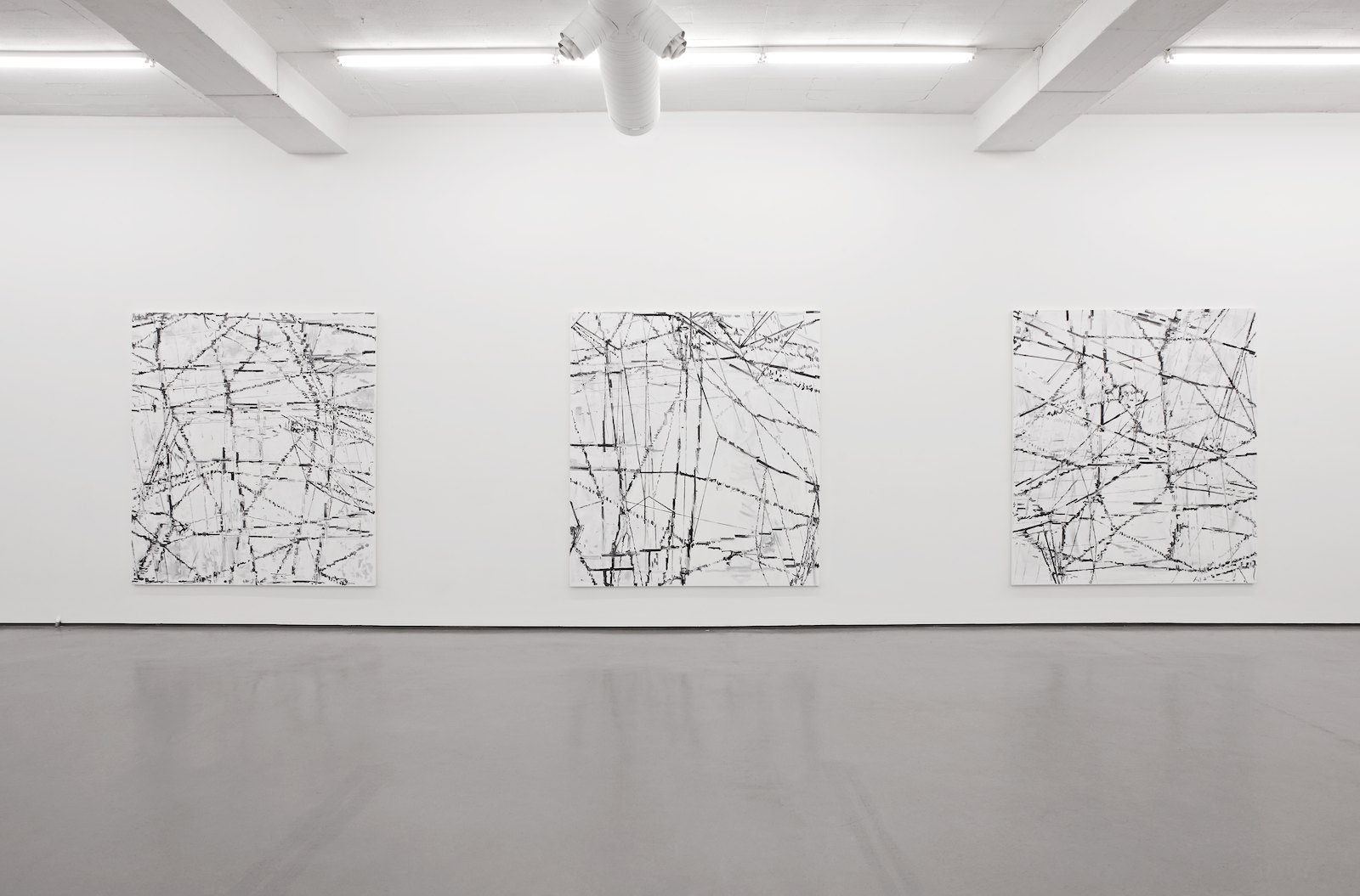 Installation view, Troels Wörsel, New paintings, Galleri Riis, Oslo, 2008