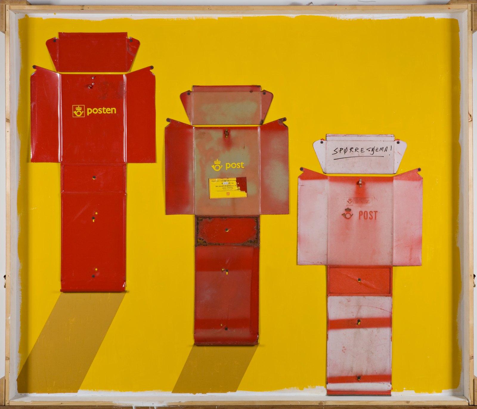 Sverre Wyller, post 4, 2007, assemblage, 166 x 195 x 13 cm