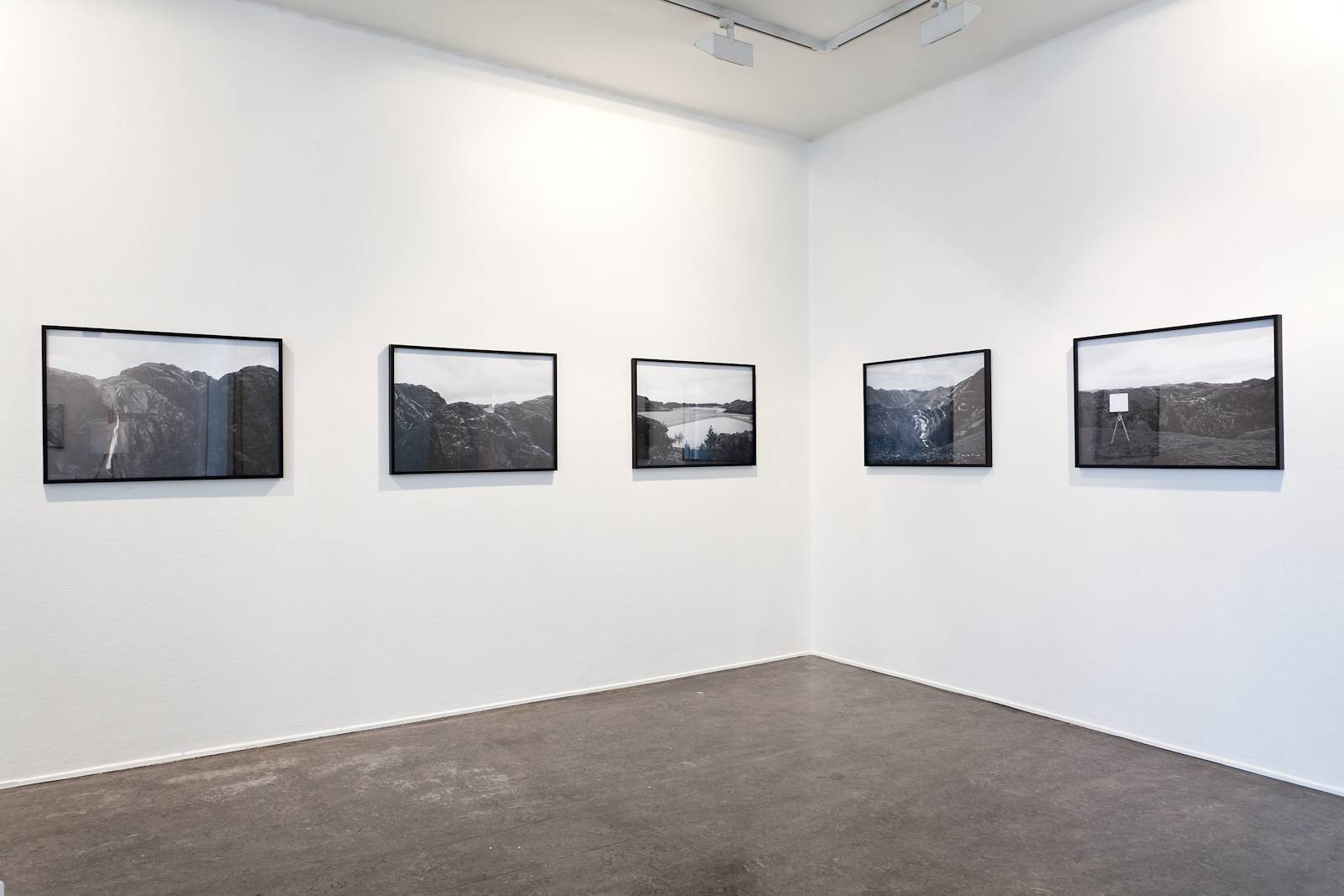 The Whitest White, 2012, C-print, 50 x 70 cm (each). Installation view Marte Johnslien, The Whitest White, Kunstnerforbundet, Oslo, 2012