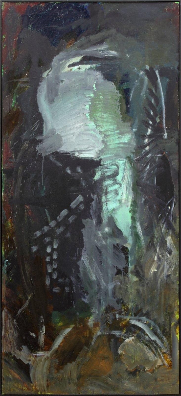 Per Kirkeby, Byzantinsk, 1983, oil on canvas, 200 x 90 cm