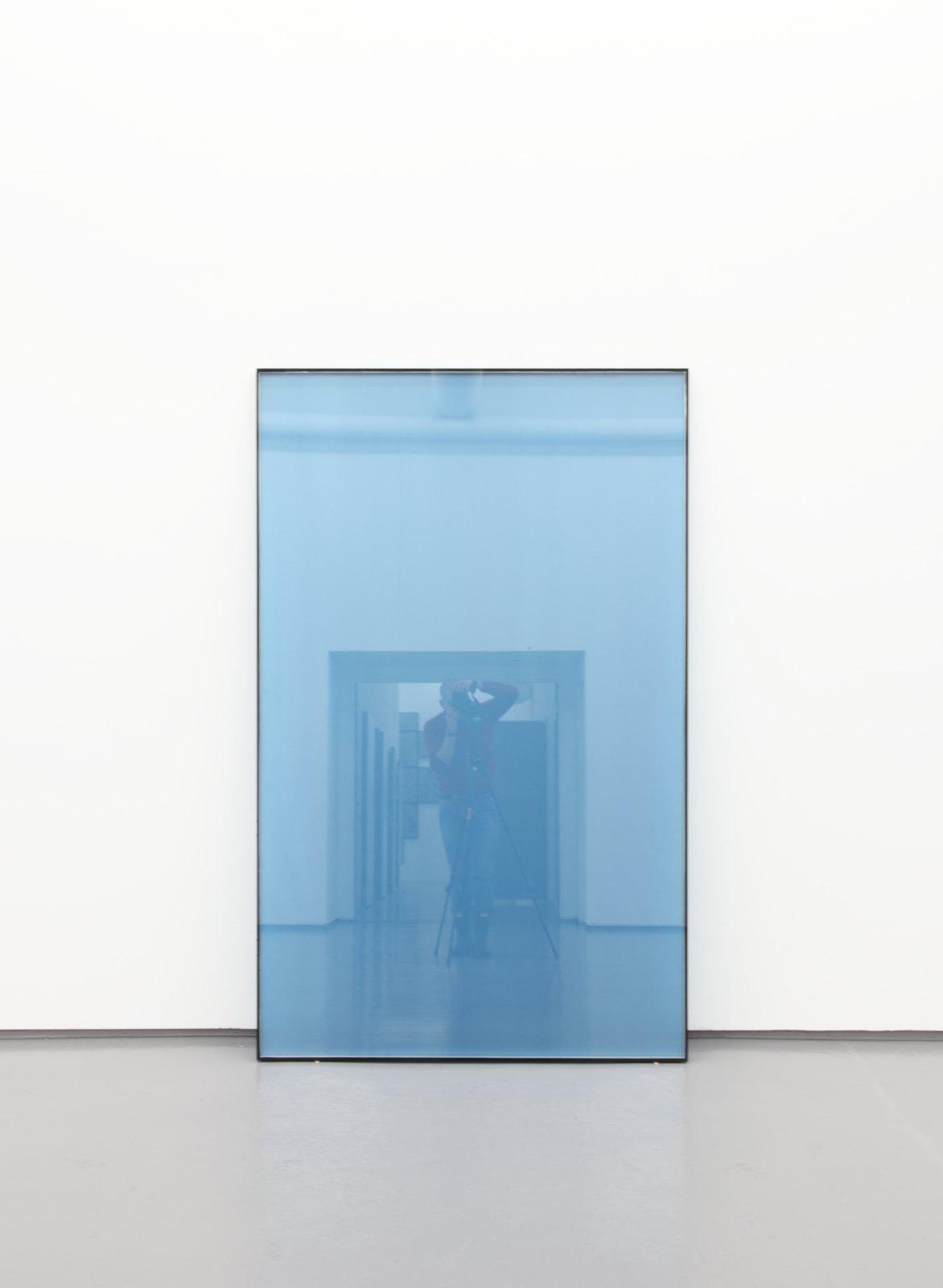 Kristján Gudmundsson, Metal Blue View, 1998-99/2009, Enamel on double insulate glass, 210 x 130 cm