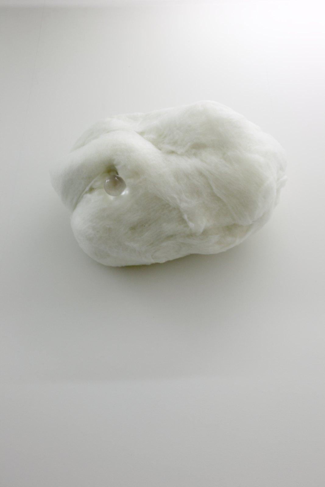 Marijke van Warmerdam, first Drop, 2004, cotton, acrylic ball, metal, 70 x 93 x 43 cm