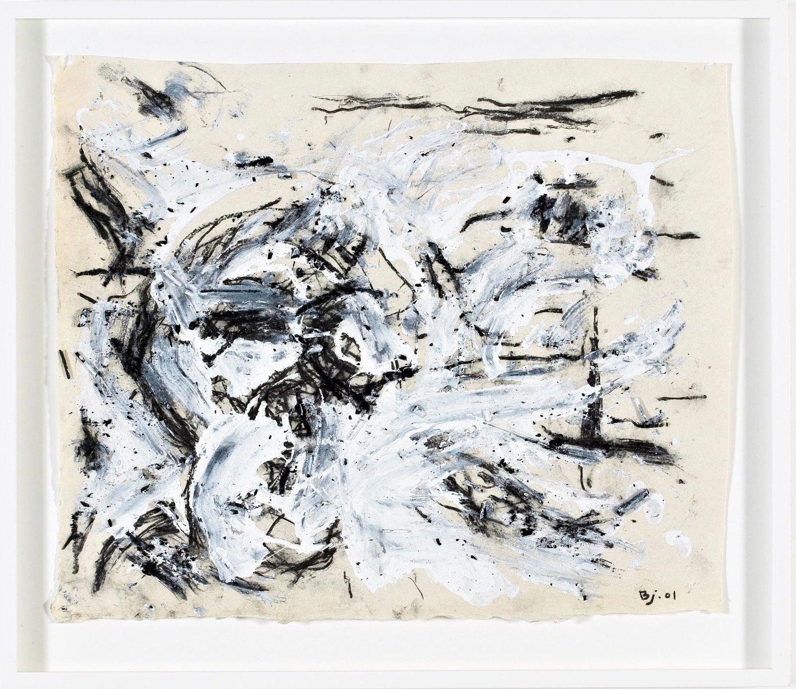 Per Inge Bjørlo, Kvitt, 2001, blandet teknikk på papir, 49 x 59 cm