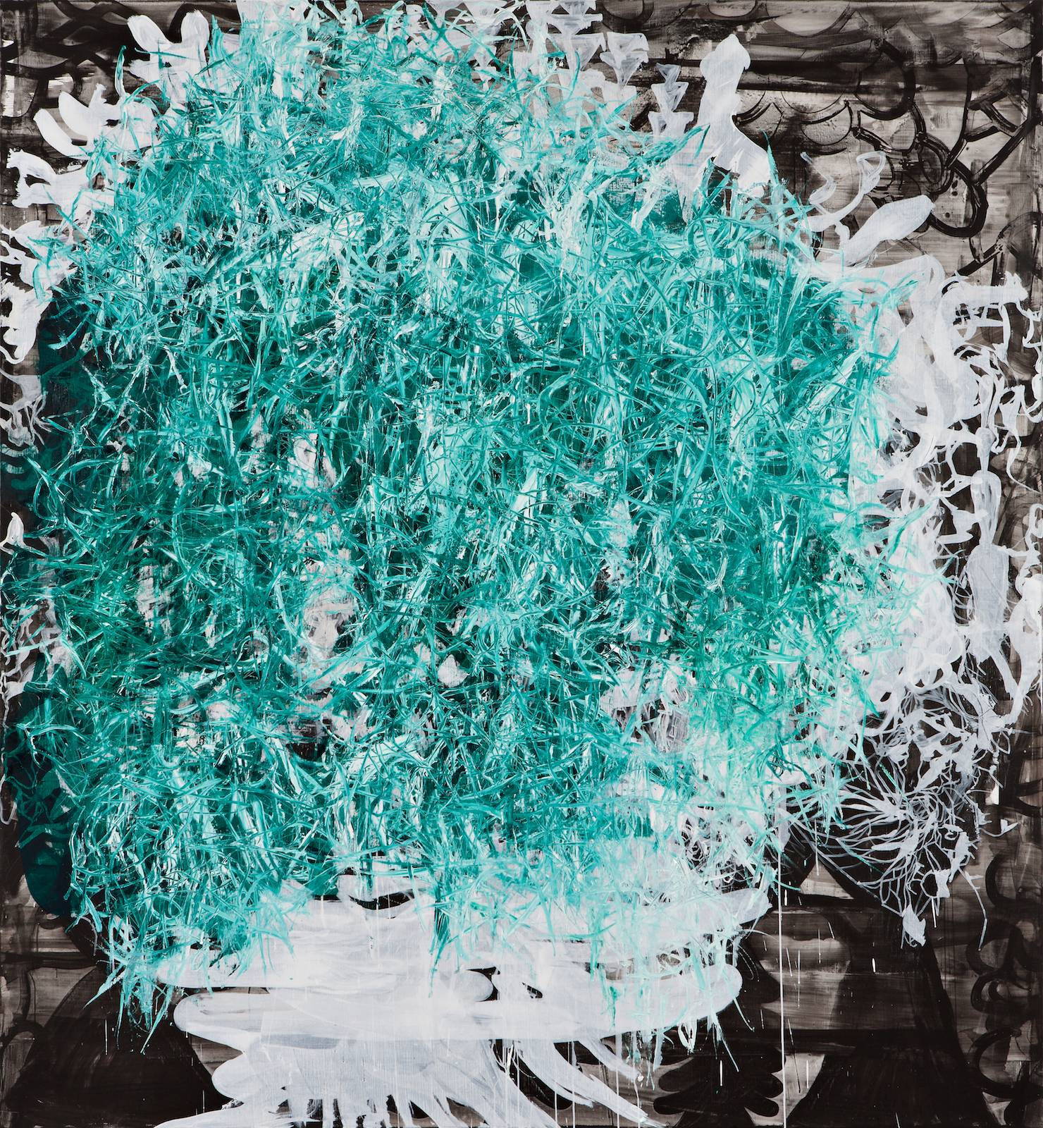 The Letharia Painting No. 25, 2013, acrylic and oil on canvas, 265 x 245 cm