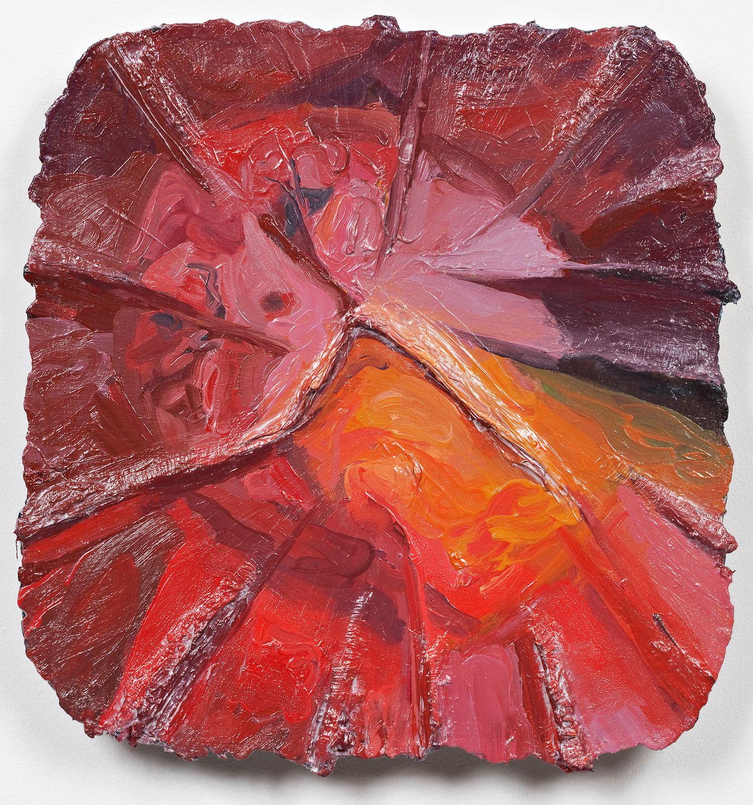 Studie til et ideelt hode (Trykk), 2009, oil on canvas on panel, 35.5 x 33.5 cm