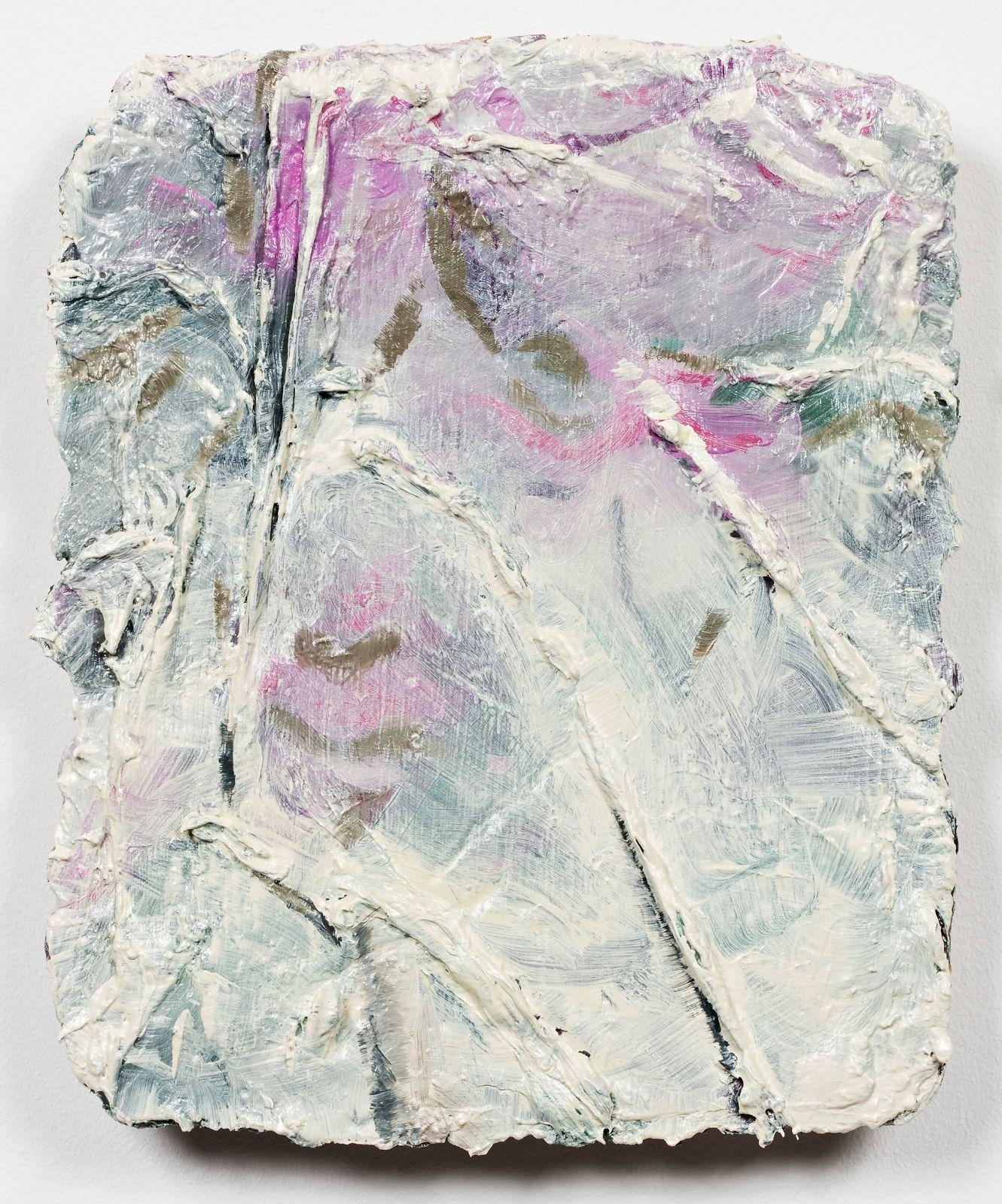 Studie til et ideelt hode (Baby), 2009, oil on canvas on panel, 30 x 25 cm
