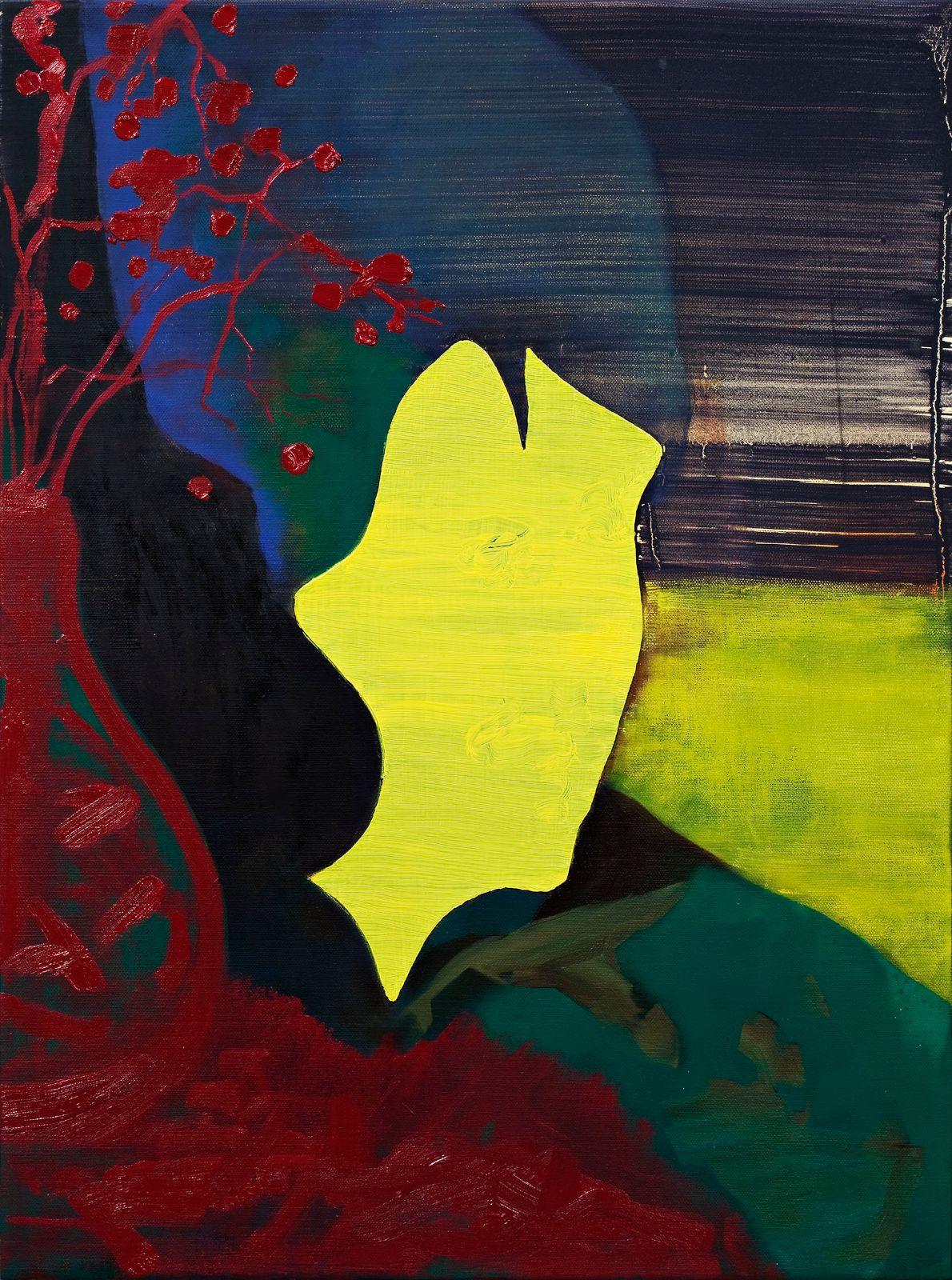 La Japonaise, 2009, oil and acrylic on canvas on panel, 60 x 45 cm