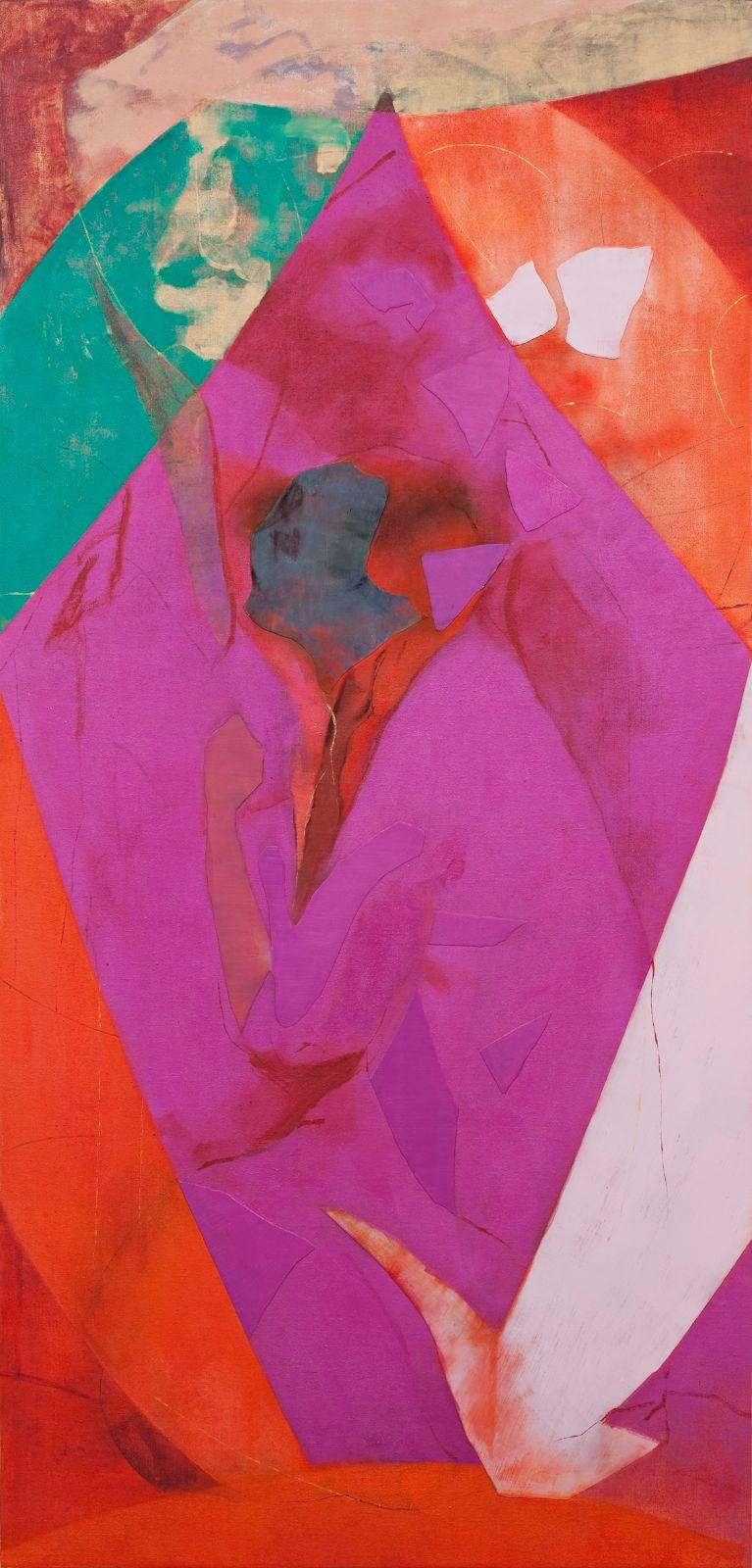 Det er deg vel unt (Rublev), 2009, oil and acrylic on canvas over panel, 200 x 96 cm