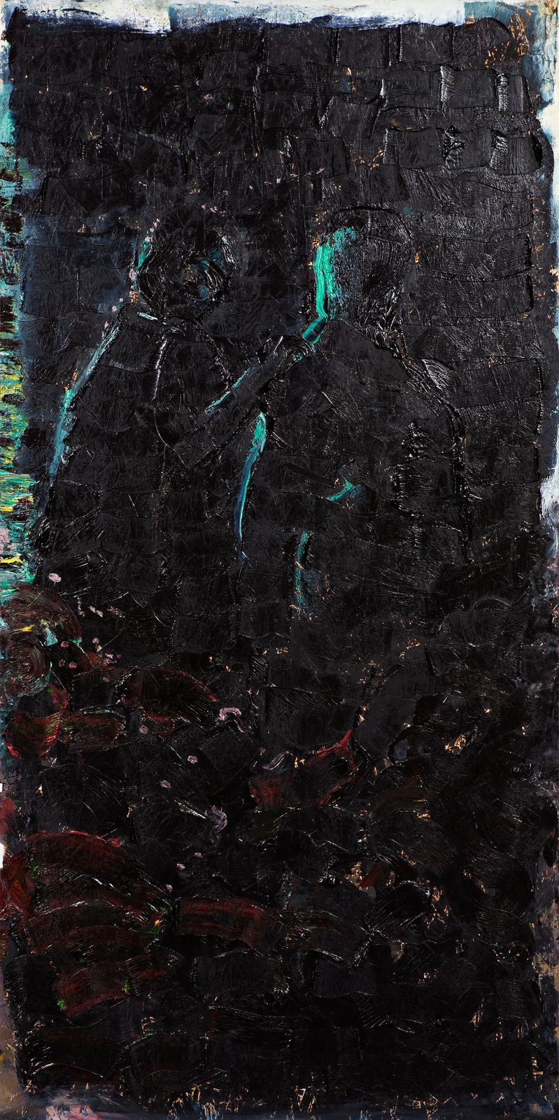 The End, 2009, oil on panel, 244 x 122 cm