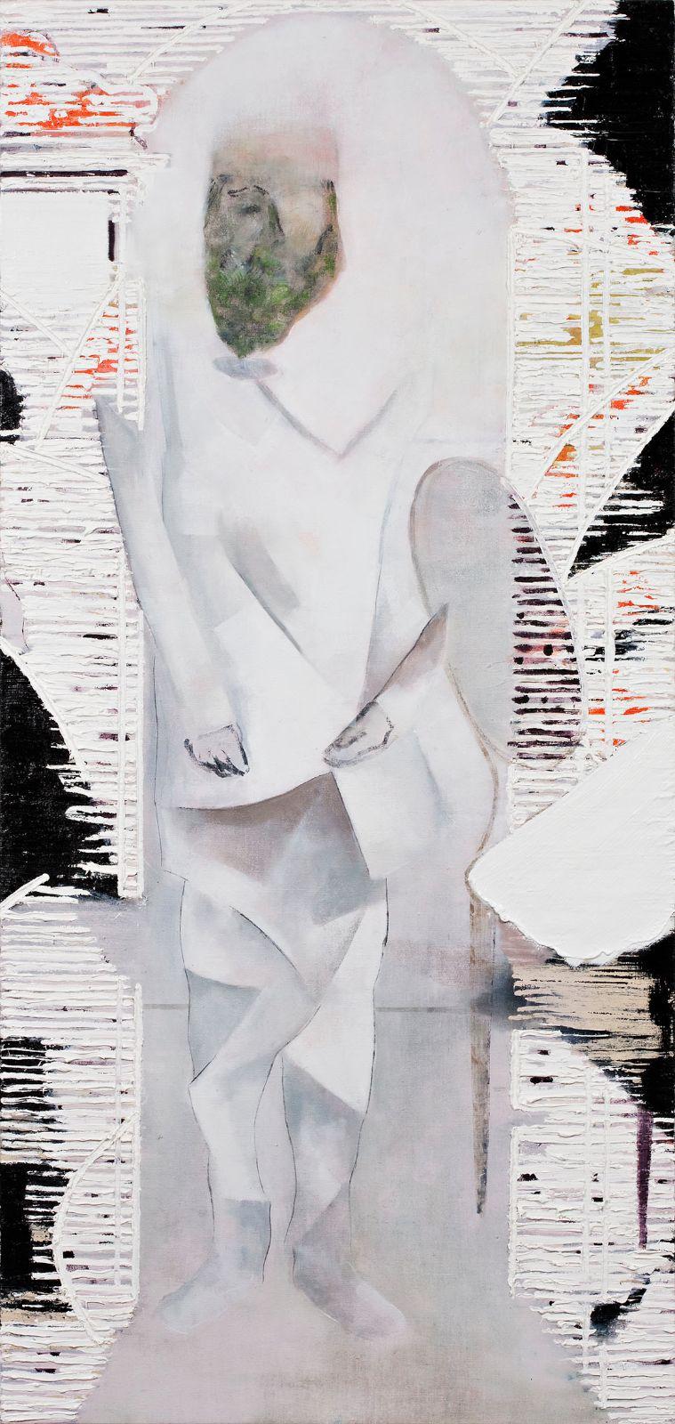 Portner (Hugo Ball), 2009, oil on canvas on panel, 200 x 96 cm