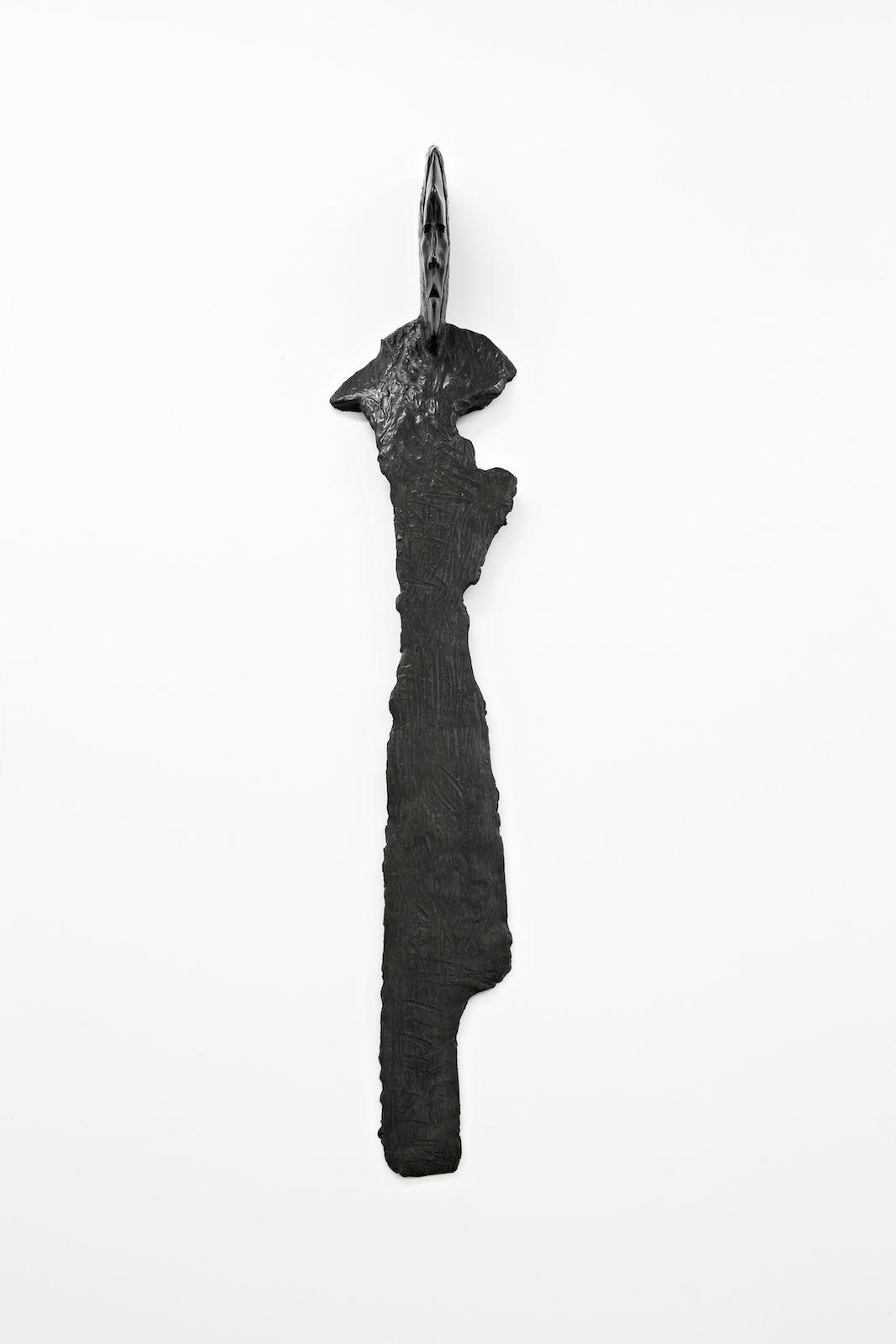 Klær til veggene II, 2009, patinated bronze, 155 x 29 x 19 cm