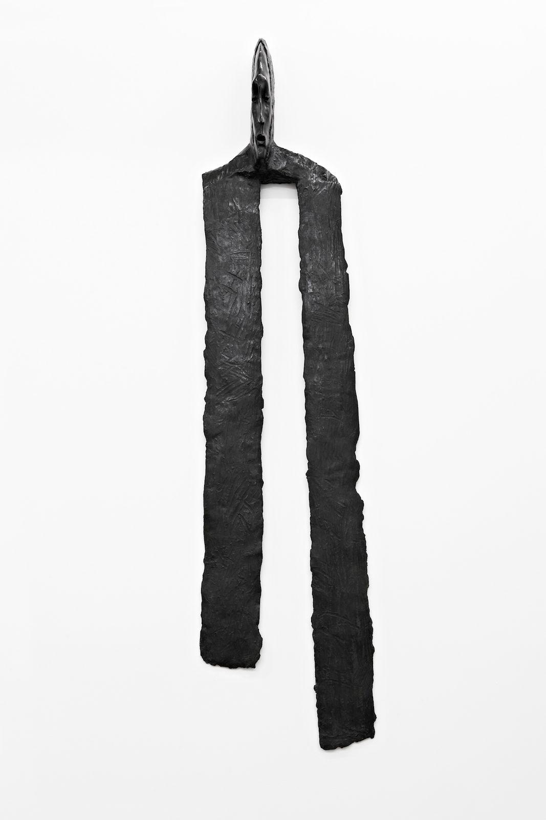 Klær til veggene III, 2009, patinated bronze, 173 x 41 x 17.5 cm