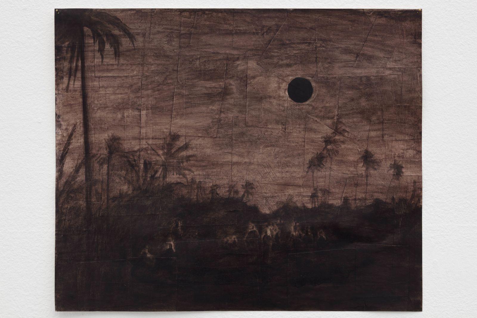 Guntur II, 2016, acrylic and ink on paper, 37,5 x 45 cm