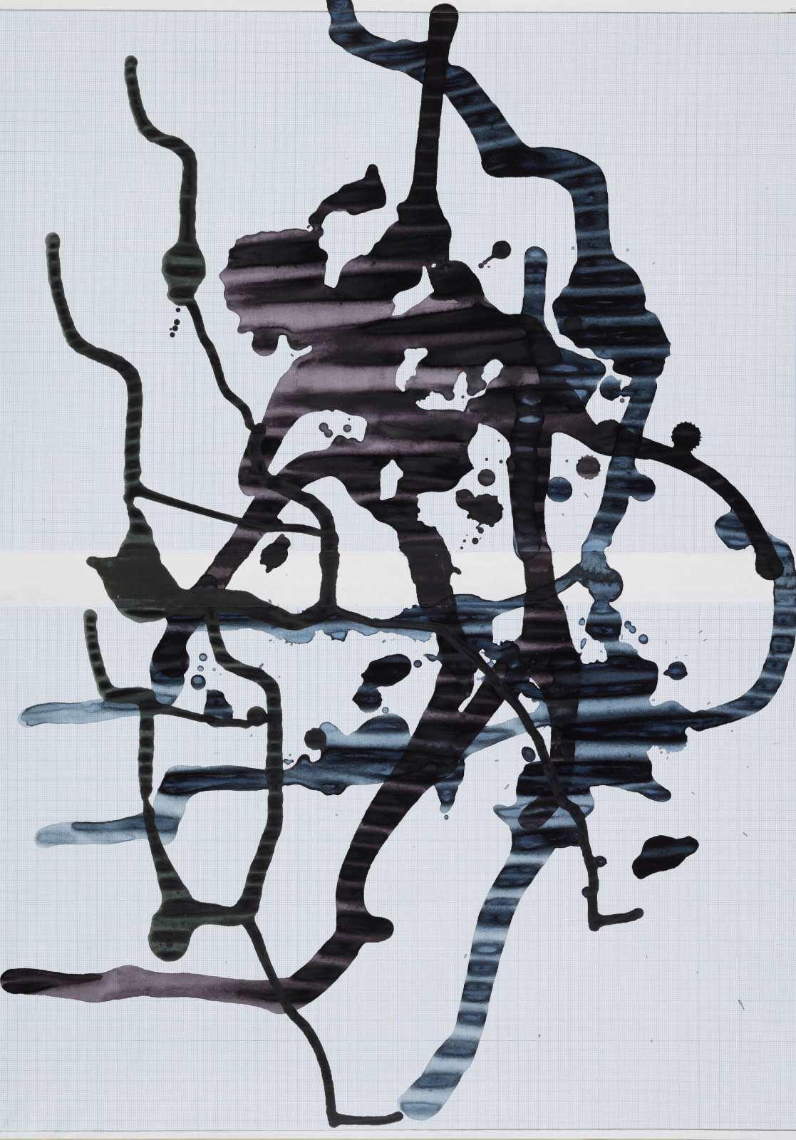 LaPlace's Demon, 2016, ink on paper, 57 x 40 cm