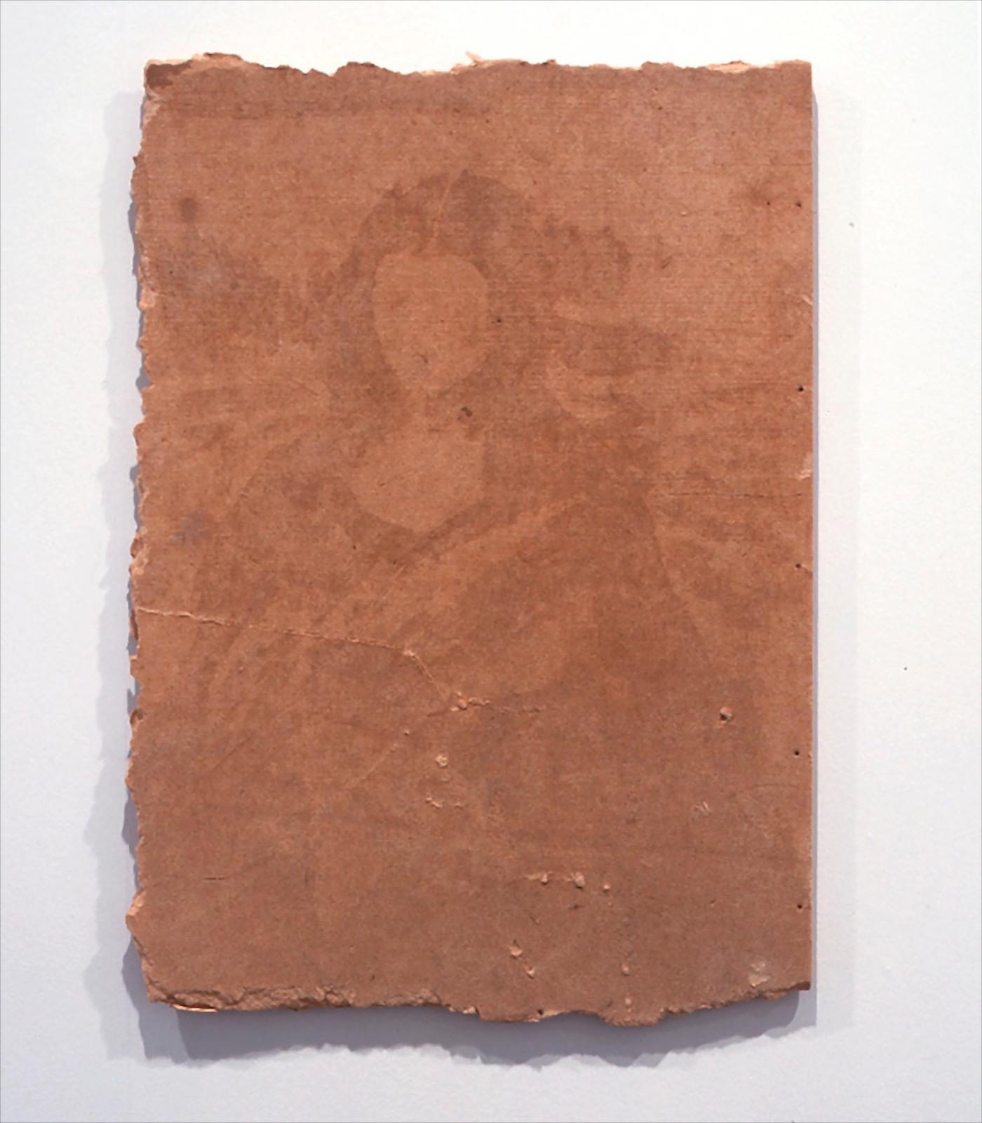 Untitled, 2001, water on fiberboard, 80 x 57 x 1.5 cm