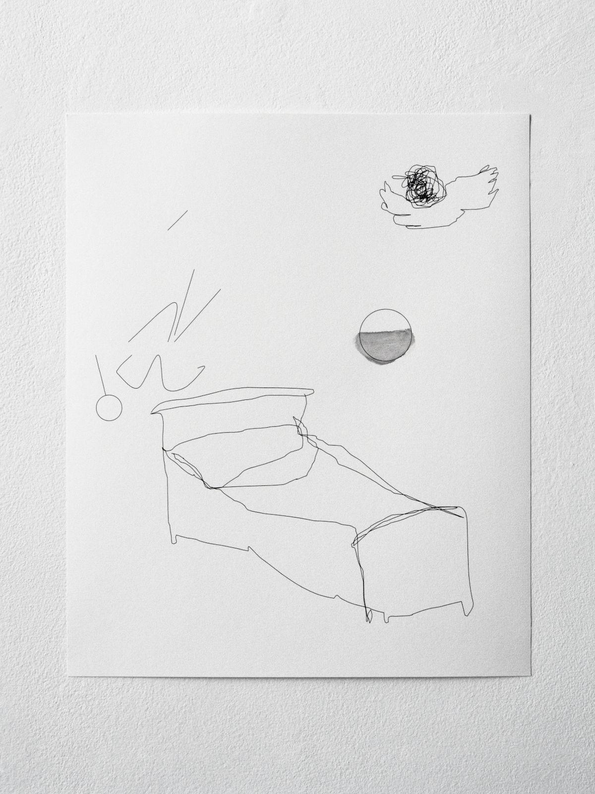 Halfslaap (Half sleep), 2005, inkjet and watercolour on paper, frame, 53 x 44 cm (50 x 41 cm), edition of 2