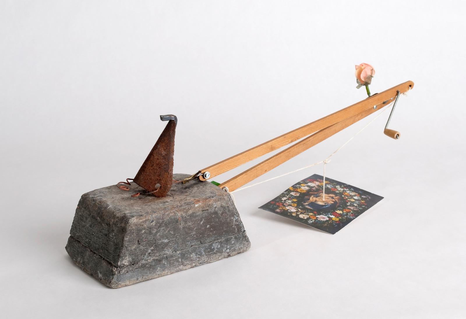 Studie (näsa), 2009, assemblage, 15 x 48 x 11,5 cm