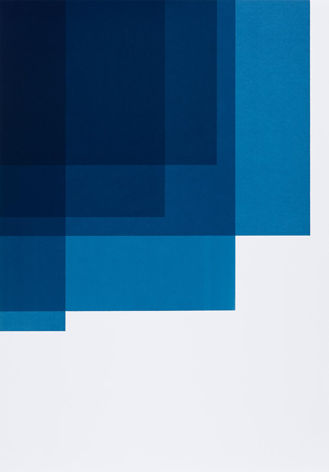 Katrine Giæver, Collecting Colors (Indigo II), 2016, Silkscreen print, 100 x 70 cm, Custom frame with museum glass, Edition 4