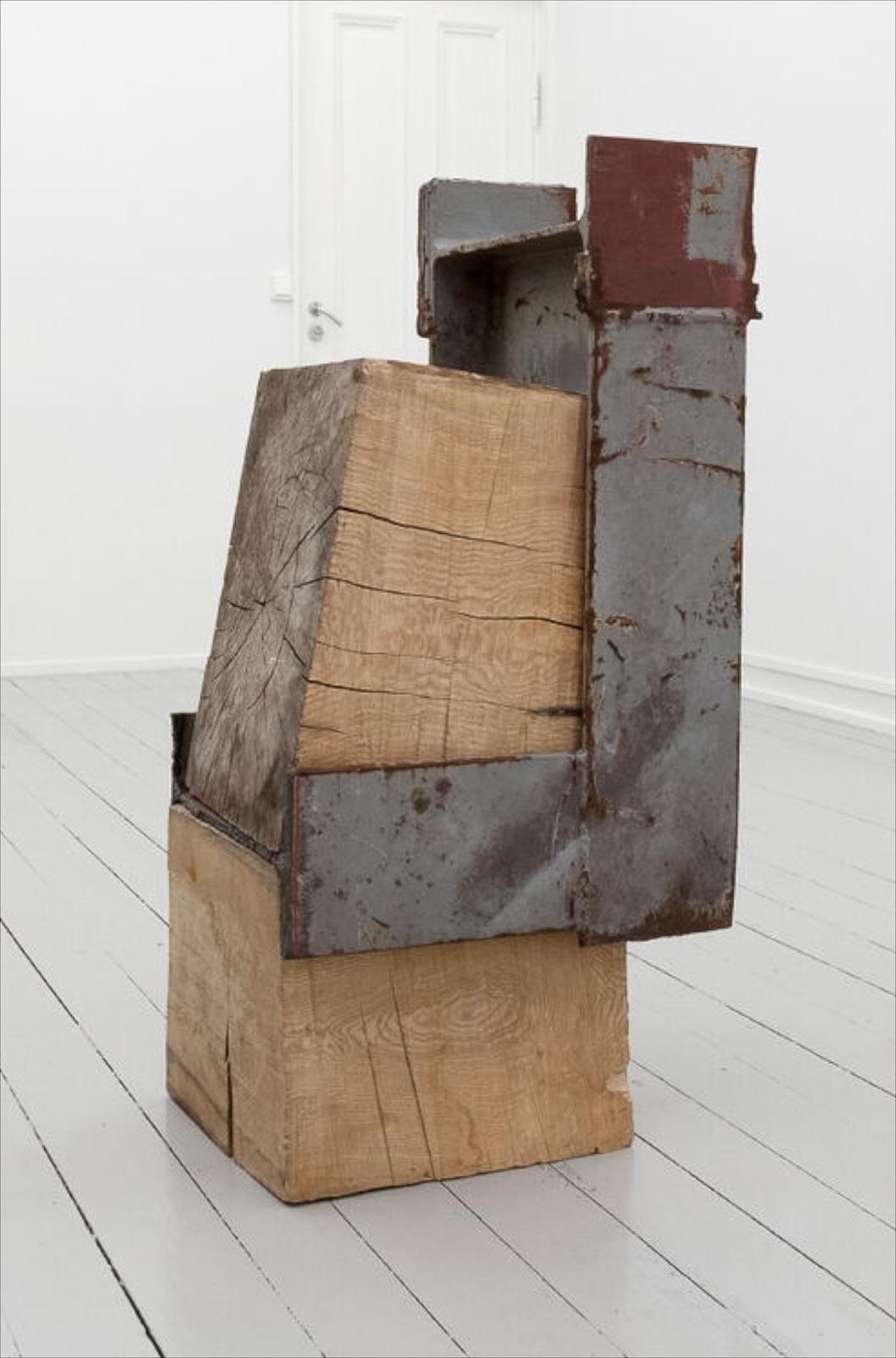 Sverre Wyller, Kolbu 8, 2017, Wood and steel, 112 x 55 x 50 cm