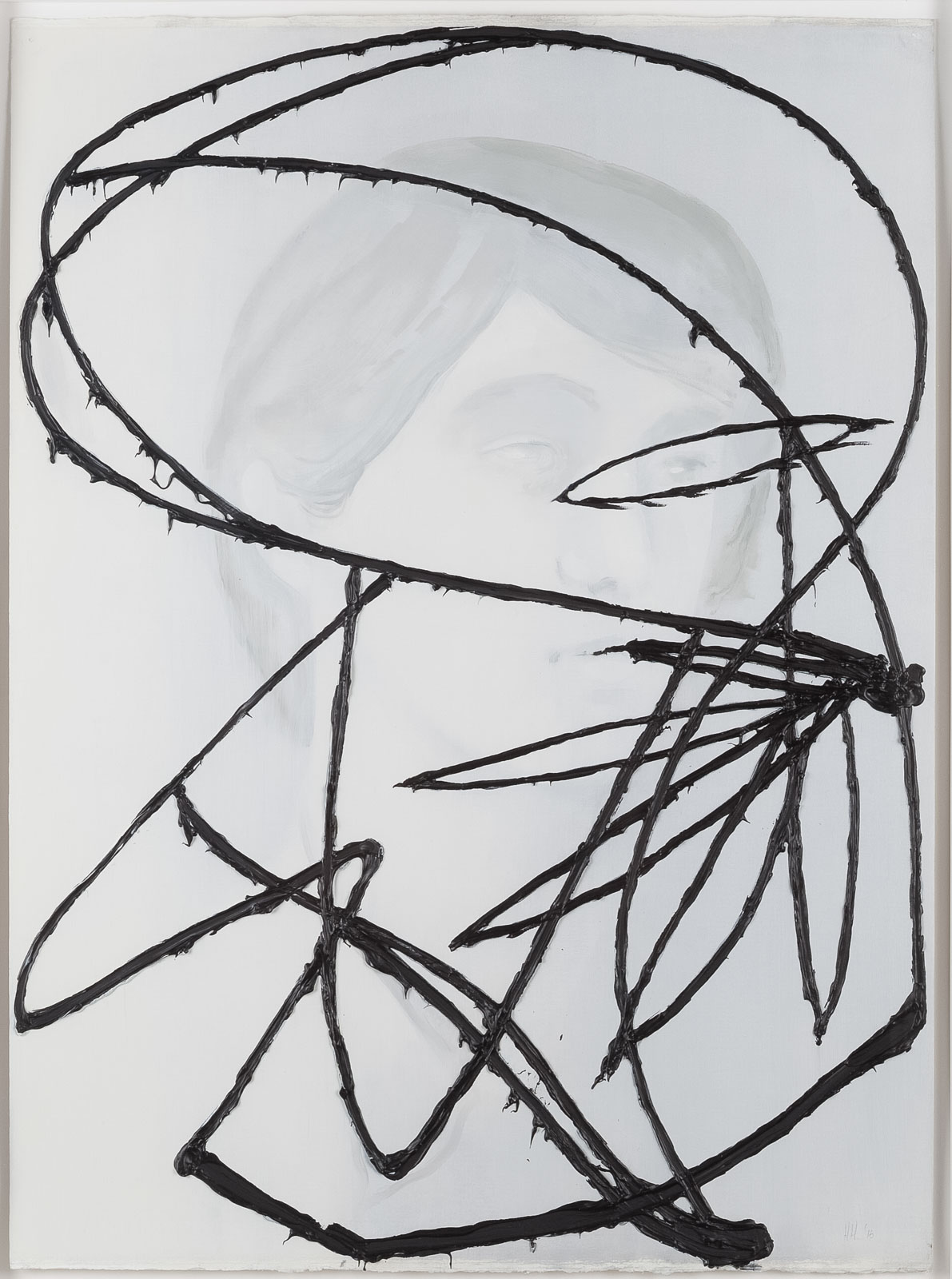 Håvard Homstvedt, The Continental Cloth #6, 2016, Oil on paper, 76 x 56,5 cm