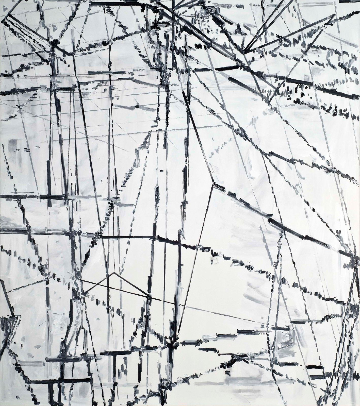 Untitled, 2008, acrylic on canvas, 250 x 220 cm