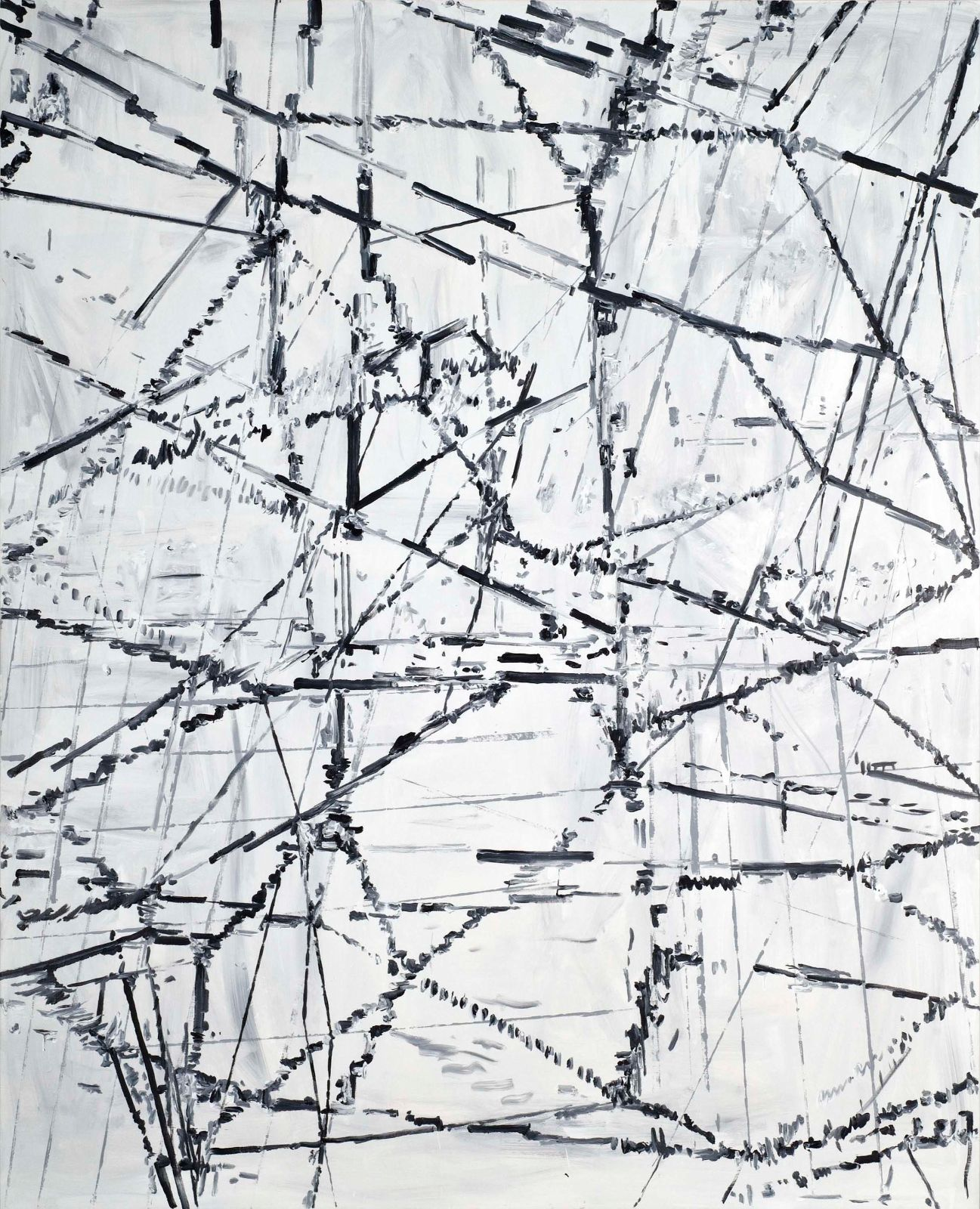 Untitled, 2008, acrylic on canvas, 250 x 200 cm