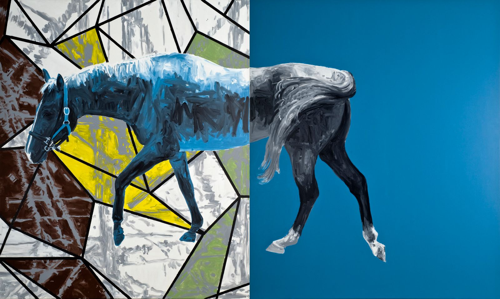Untitled, 2008, acrylic on canvas, 240 x 400 cm