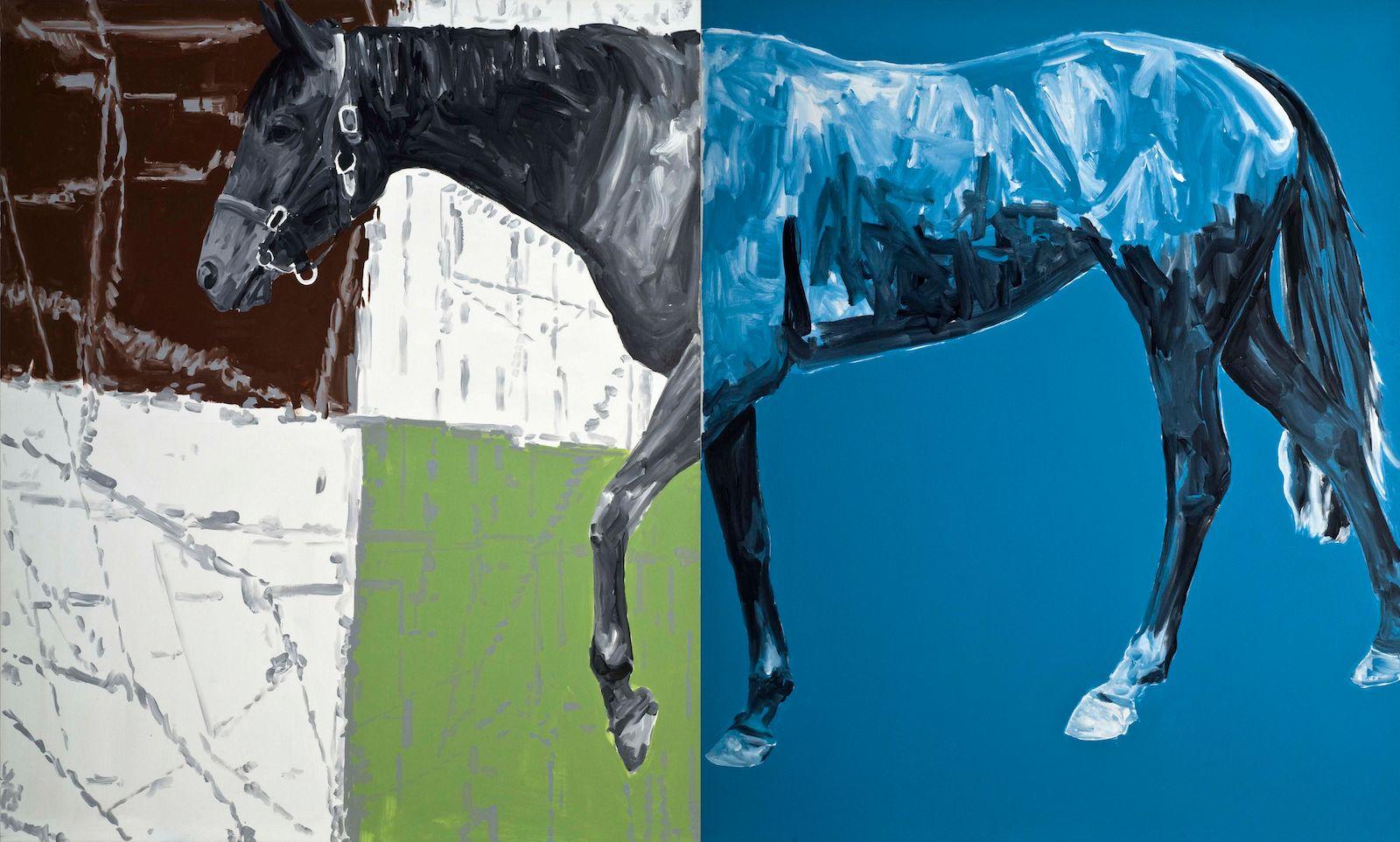 Untitled, 2008, acrylic on canvas, 180 x 300 cm