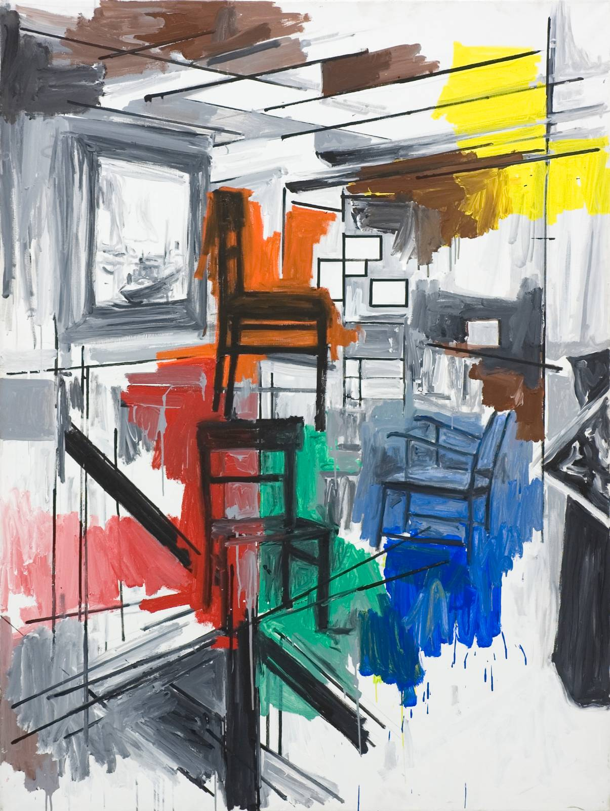 Untitled, 1995, acrylic on canvas, 200 x 150 cm
