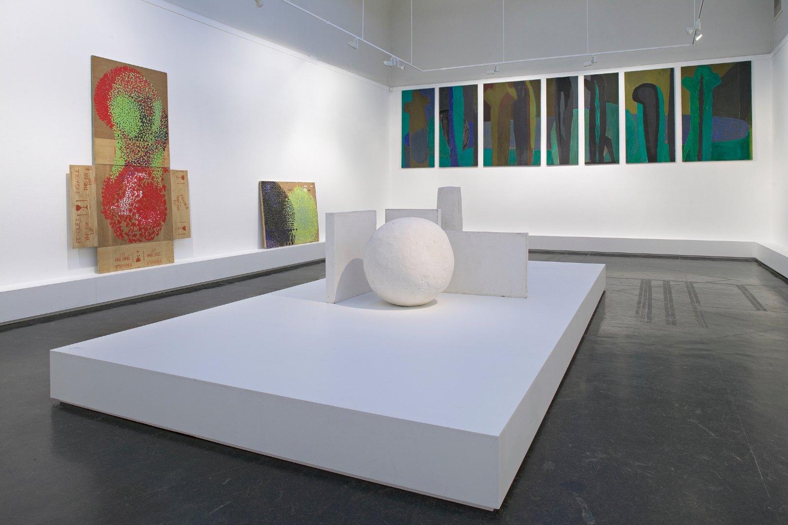 Figuren 1-7 (Kartoffelserien), 1986, tempera on canvas, size variable, 7 parts. Installation view Kunstnernes Hus, 2006