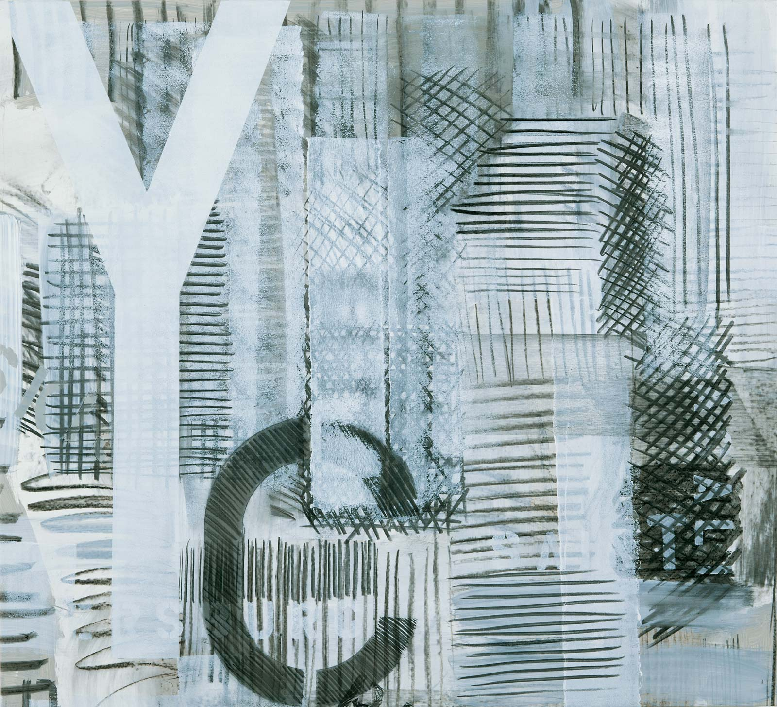 From the series St. Petersburg, 2003, 97 x 107 cm (each, 10 parts), acrylic and charcoal on canvas