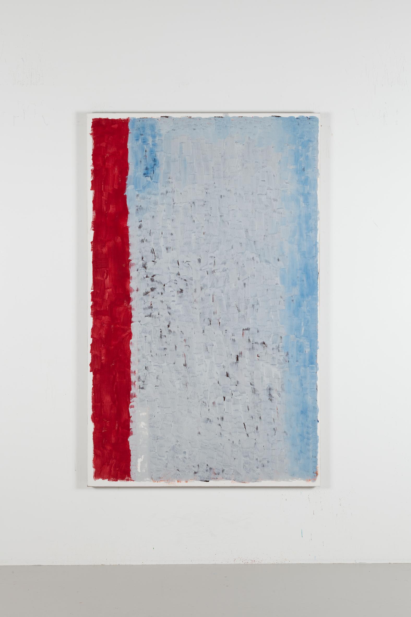 Westend #11, 2017, Egg tempera on canvas, 160 x 100 cm