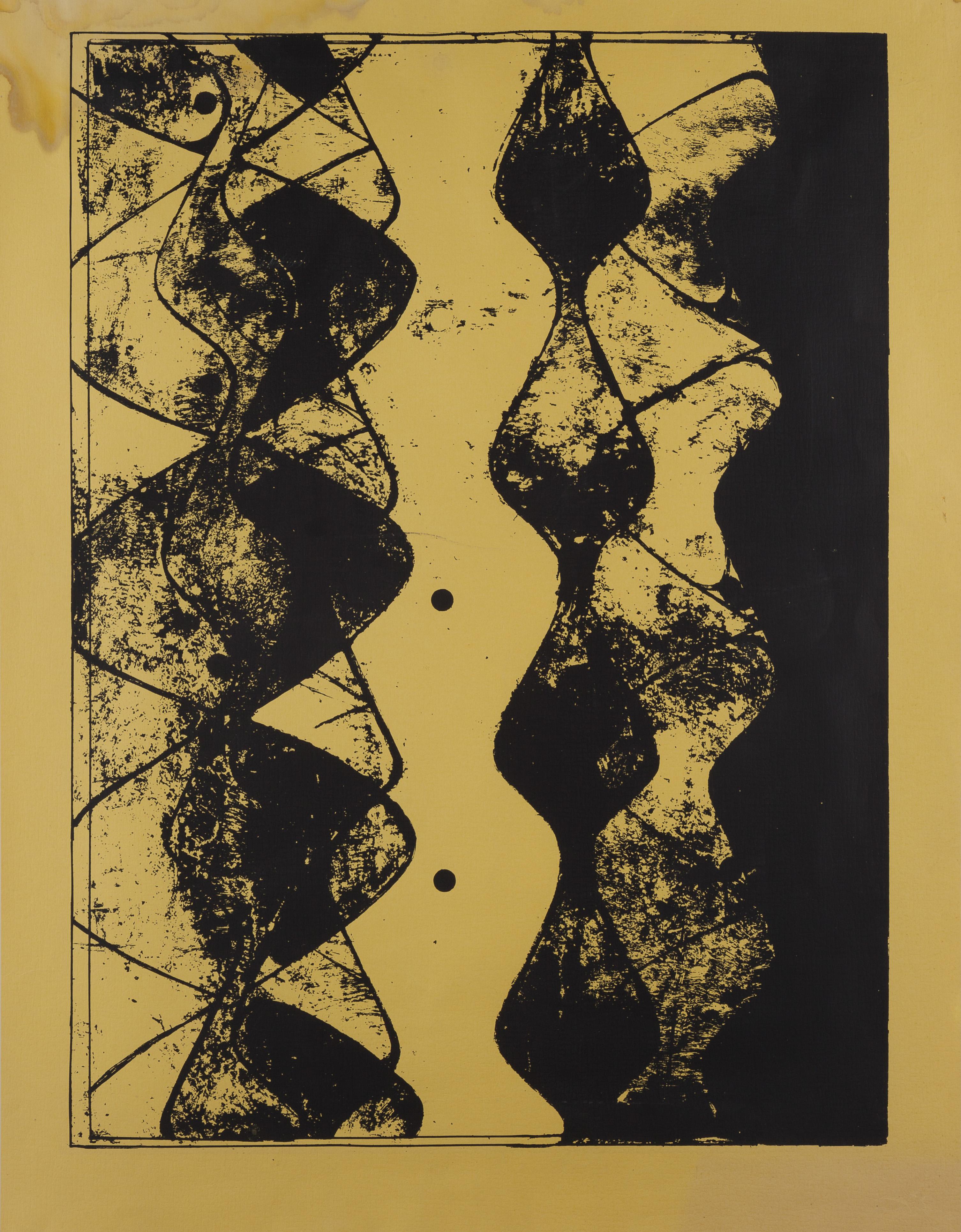 Action - Reaction, B, circa 1970, Silkscreen, 78 x 59 cm, Unique