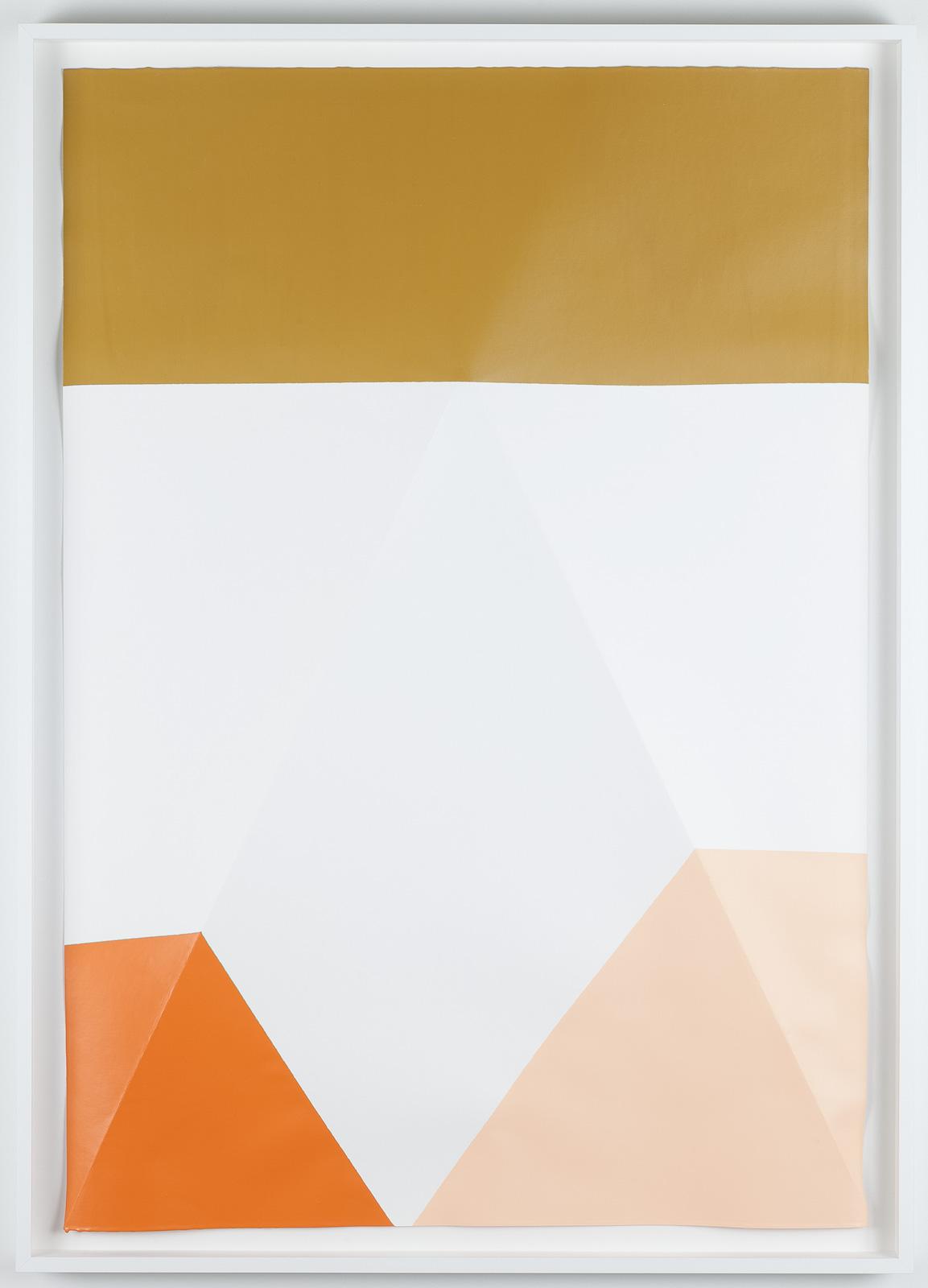Dip / 5, 2017, Acrylic on paper, 107 x 77 x 5,2 cm