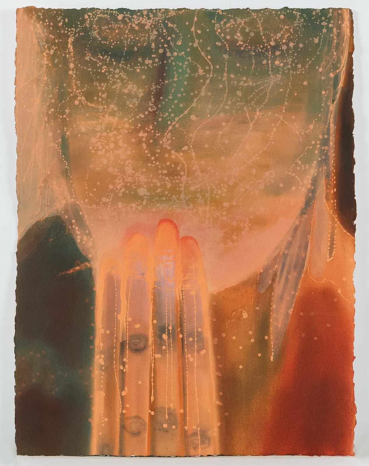 Ild og Ildpåsettere, 2018, Pastel on paper, 76,5 x 58 cm