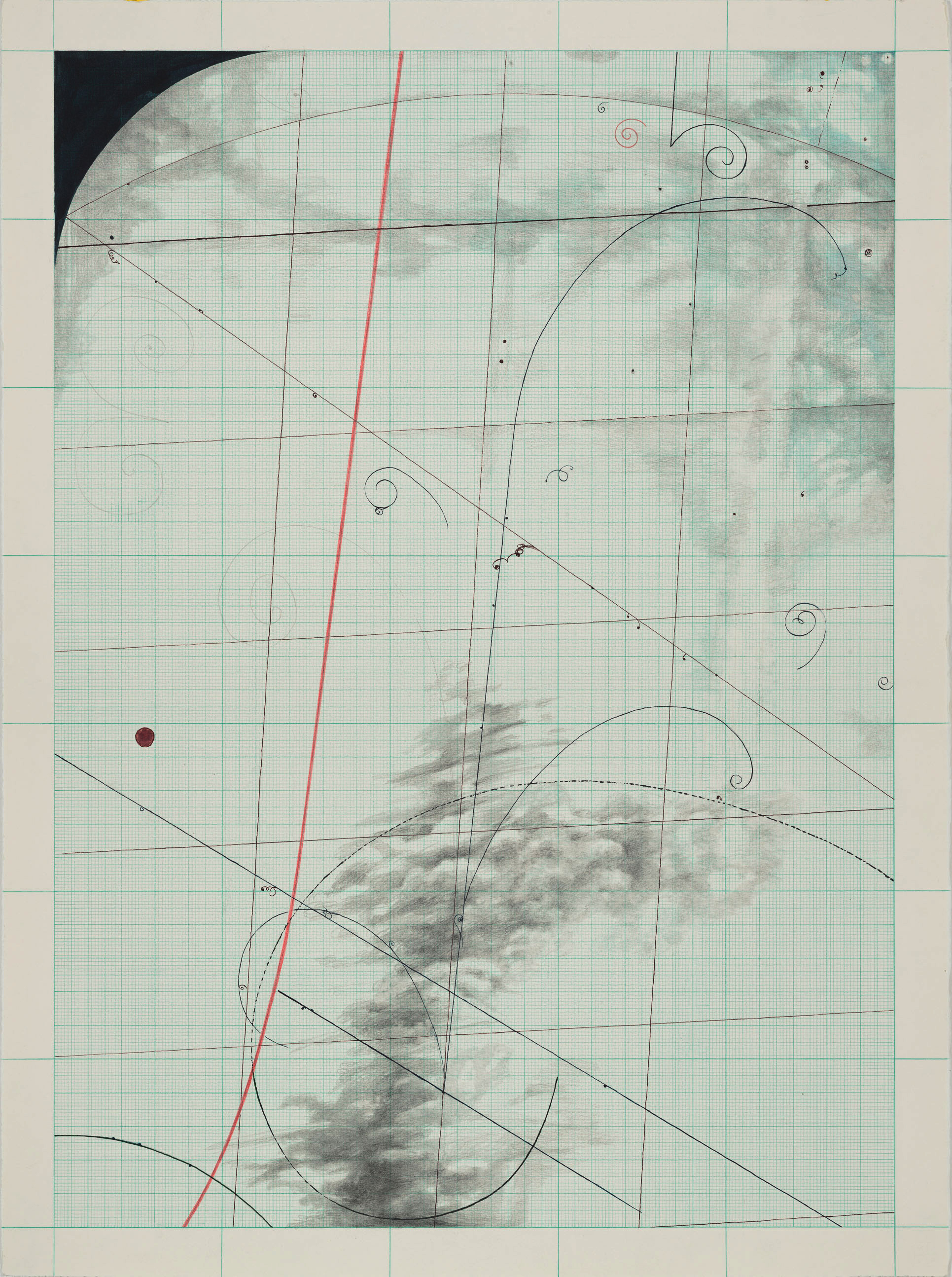 Antimatter, 2013, ink, water-soluble pencil and pencil on paper, 76 x 56 cm