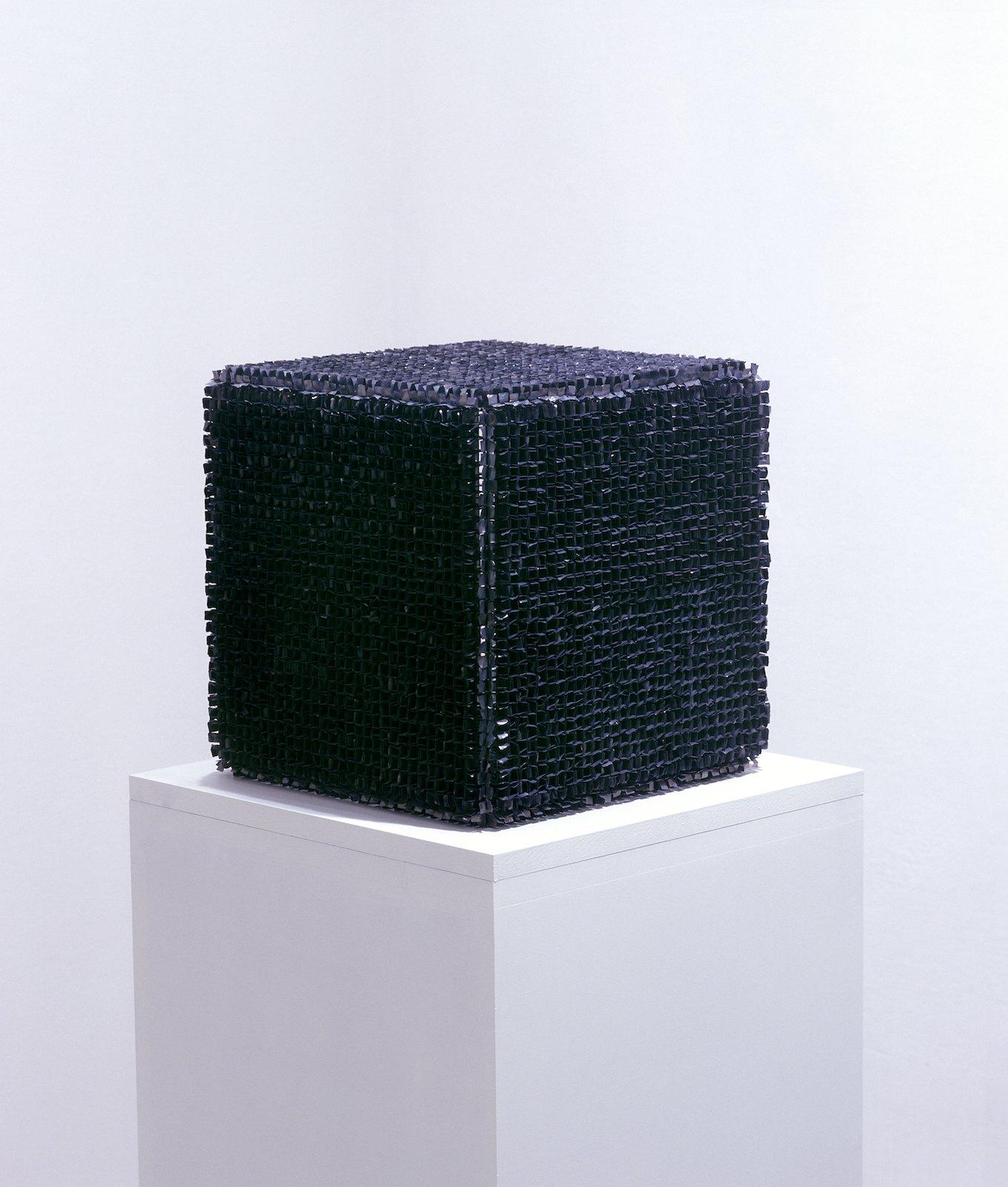 Sculpture V, 2000, lead, steel, 36 x 36 x 36 cm