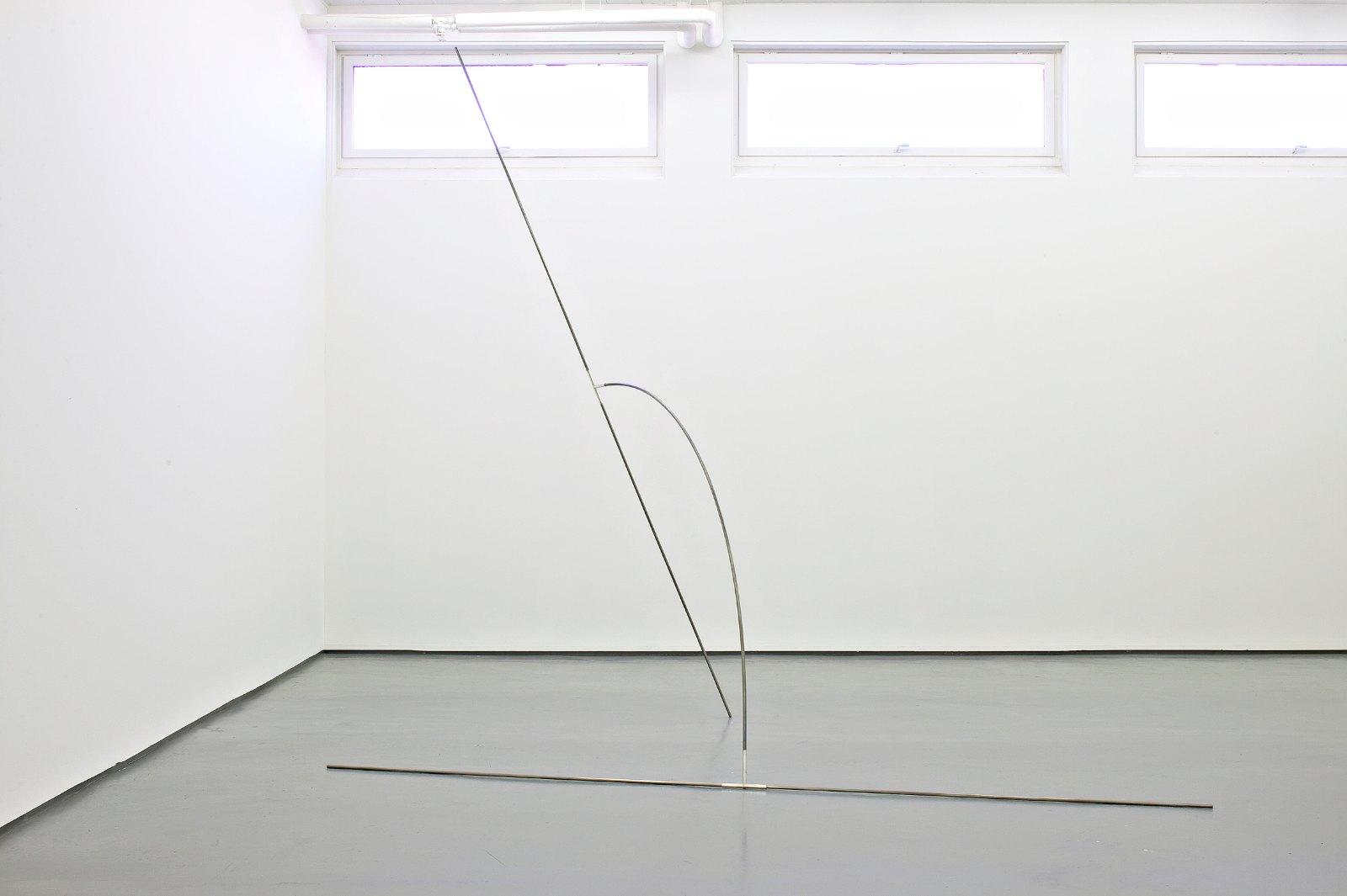 Sculpture II, 2006, steel, silver, 374 x 400 x 200 cm