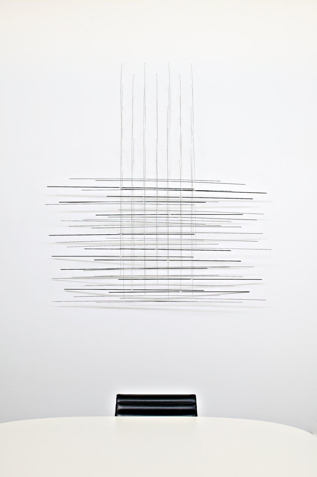 Sculpture III, 2006, steel, silver, 172 x 153 x 18 cm