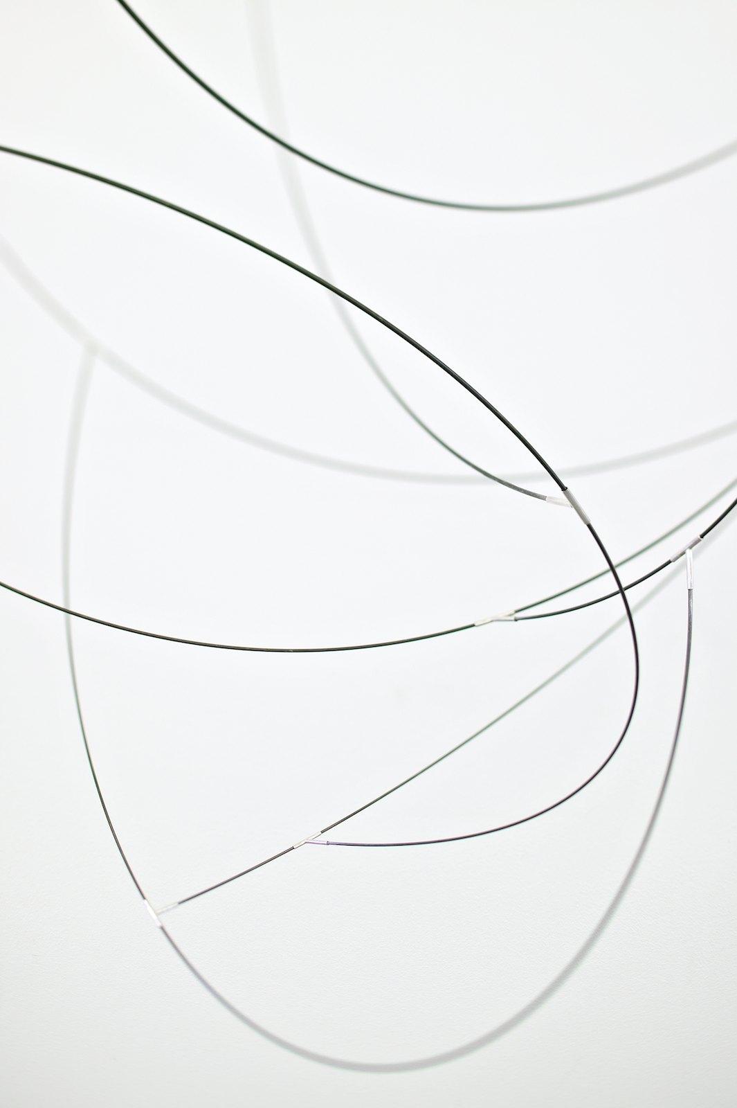 Sculpture III, 2007, steel, silver, 180 x 70 x 80 cm, detail
